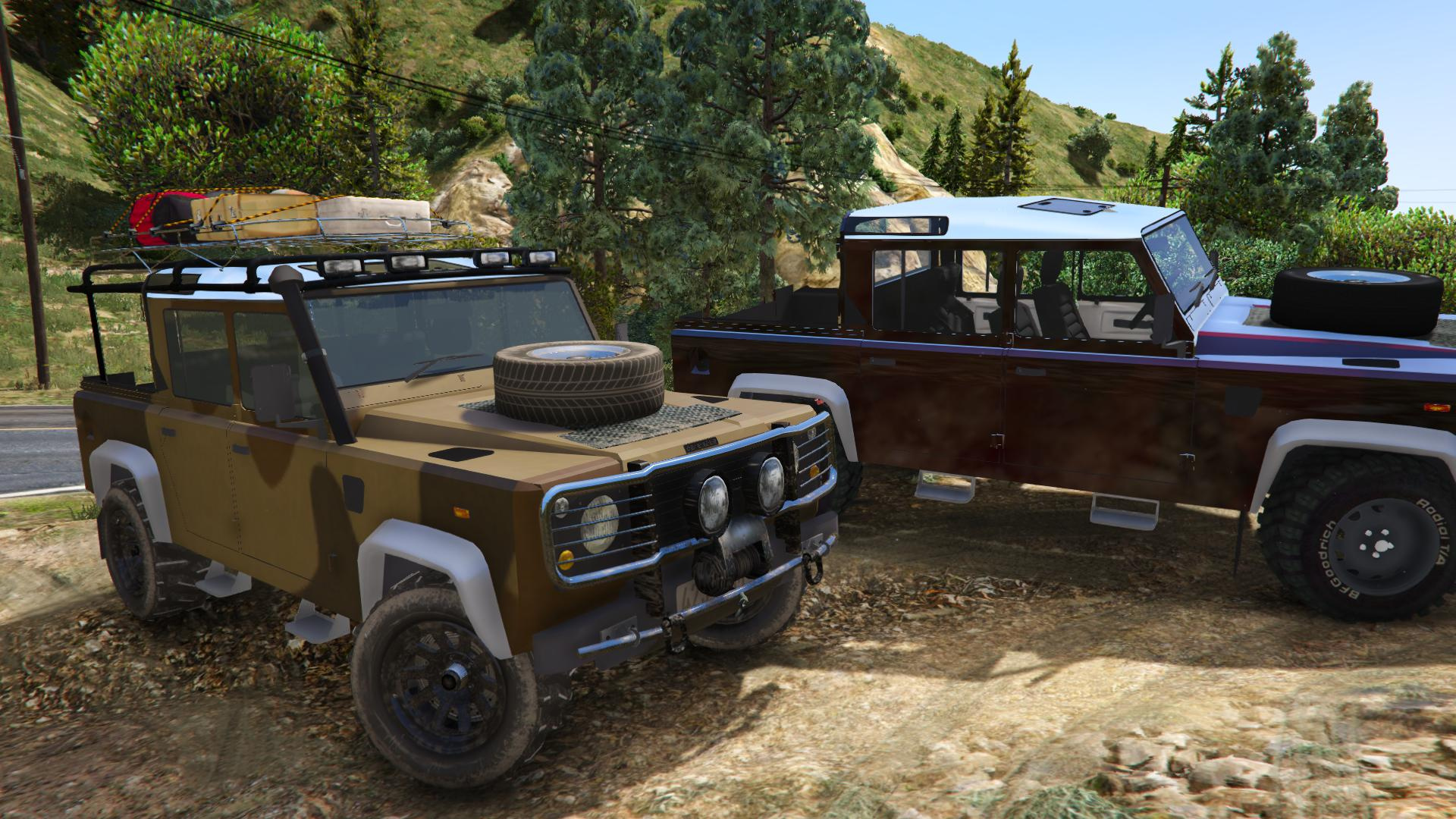 land rover defender 110 pickup unlocked gta5. Black Bedroom Furniture Sets. Home Design Ideas