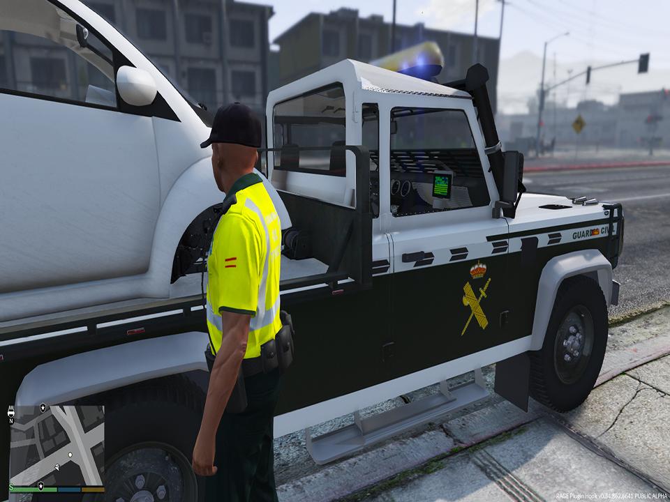 Land Rover Defender Gr 250 A Guardia Civil Espa 241 A Gta5 Mods Com