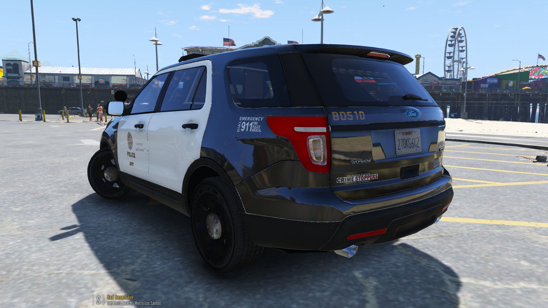 lapd 2014 ford explorer police interceptor utility gta5. Black Bedroom Furniture Sets. Home Design Ideas