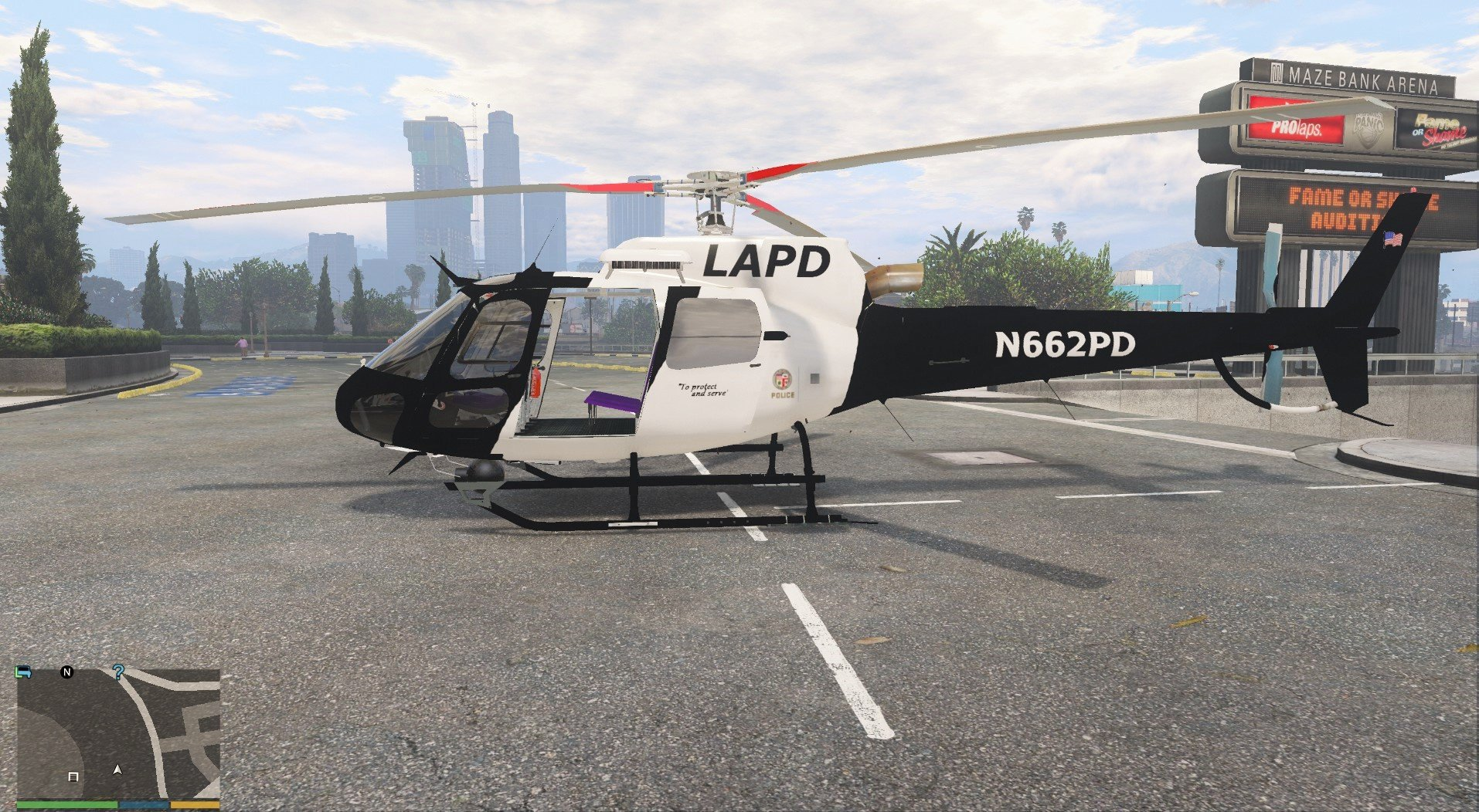 lapd as350 helicopter gta5modscom