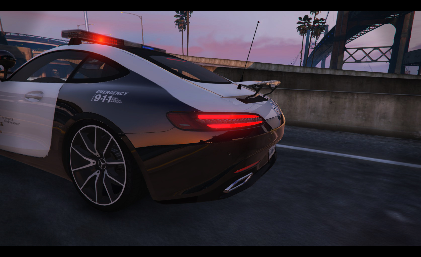 lapd mercedes benz amg gt 2016 gta5. Black Bedroom Furniture Sets. Home Design Ideas