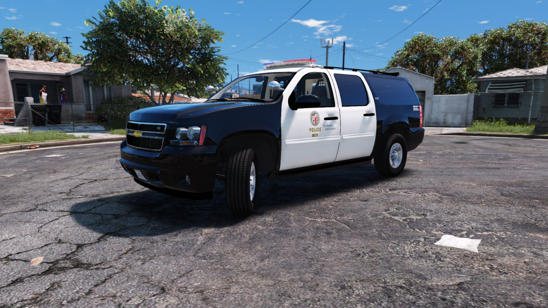 lapd skin for 2008 chevrolet suburban gta5. Black Bedroom Furniture Sets. Home Design Ideas