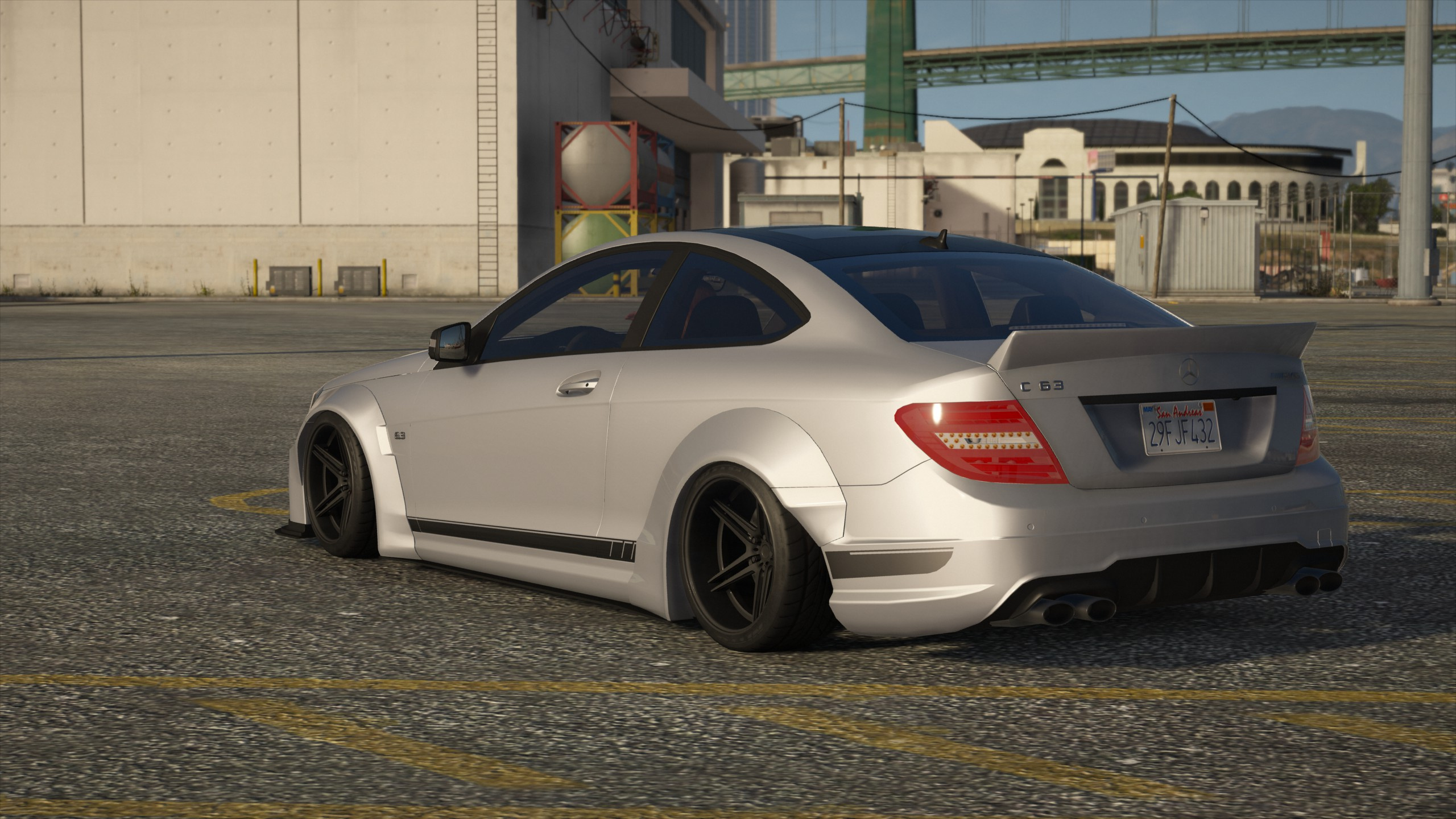 Liberty Walk Mercedes Benz C63 Amg Add On Template