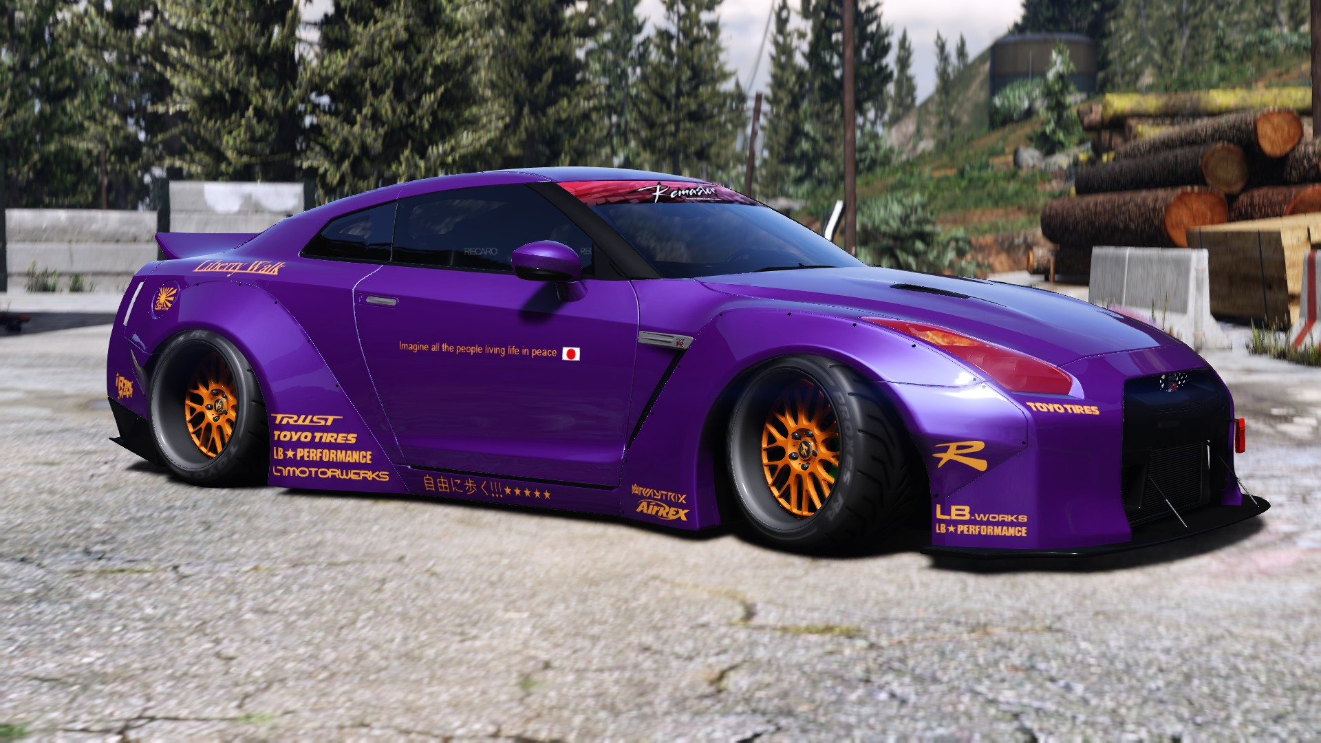 Liberty Walk Nissan Gt R Add On Tuning Liveries