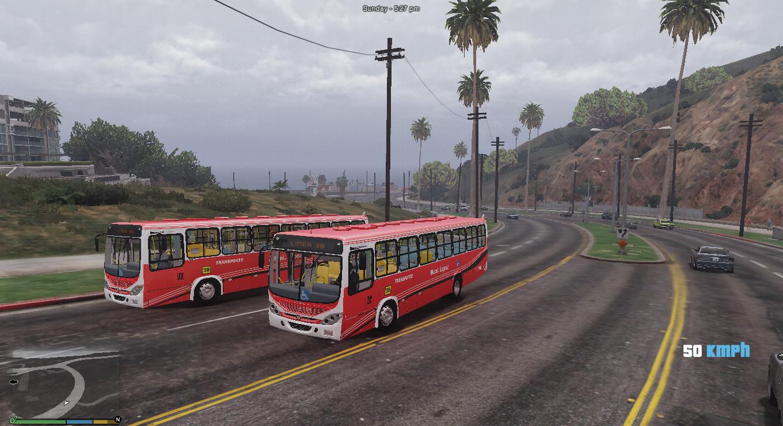 Linea 38 Paraguay Bus - Livery for Marcopolo Torino 2007 - GTA5-Mods.com
