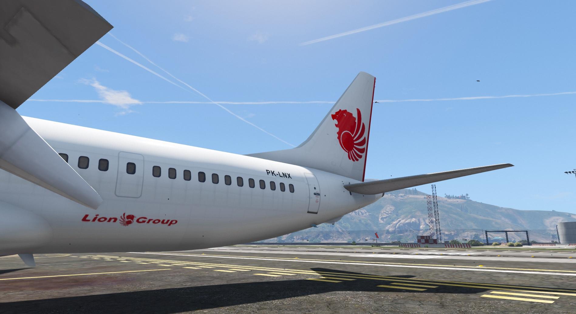 Lion Air Livery for Boeing 737 MAX 9 - GTA5-Mods com