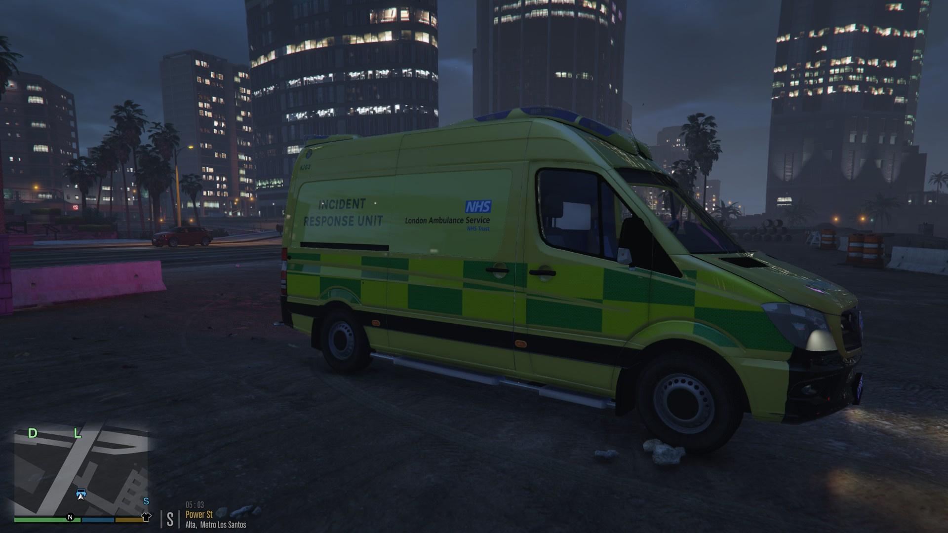 London ambulance service mercedes benz sprinter incident for Service for mercedes benz