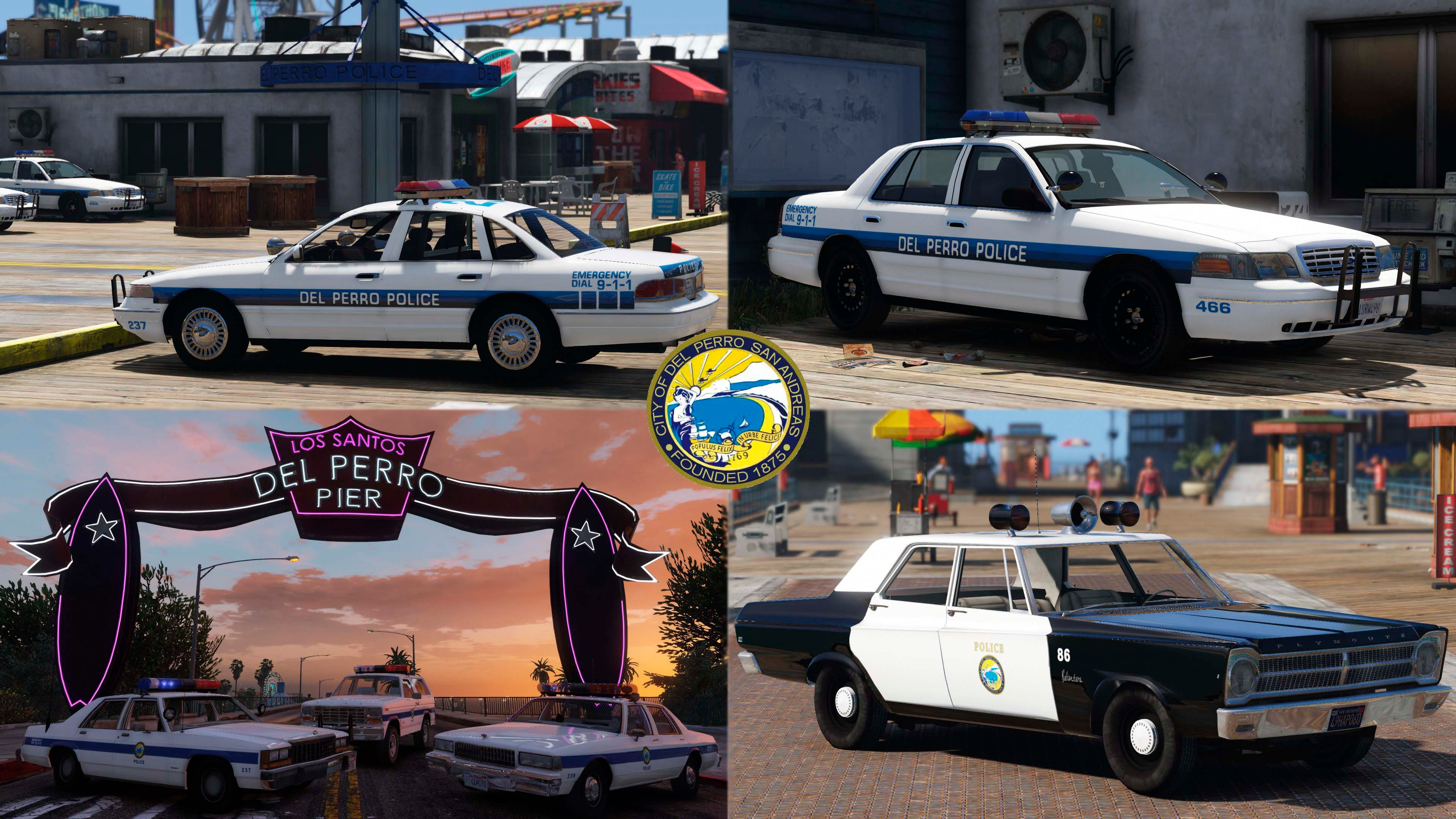 Lore Friendly Retro Emergency Vehicles Pack Gta5 Mods Com