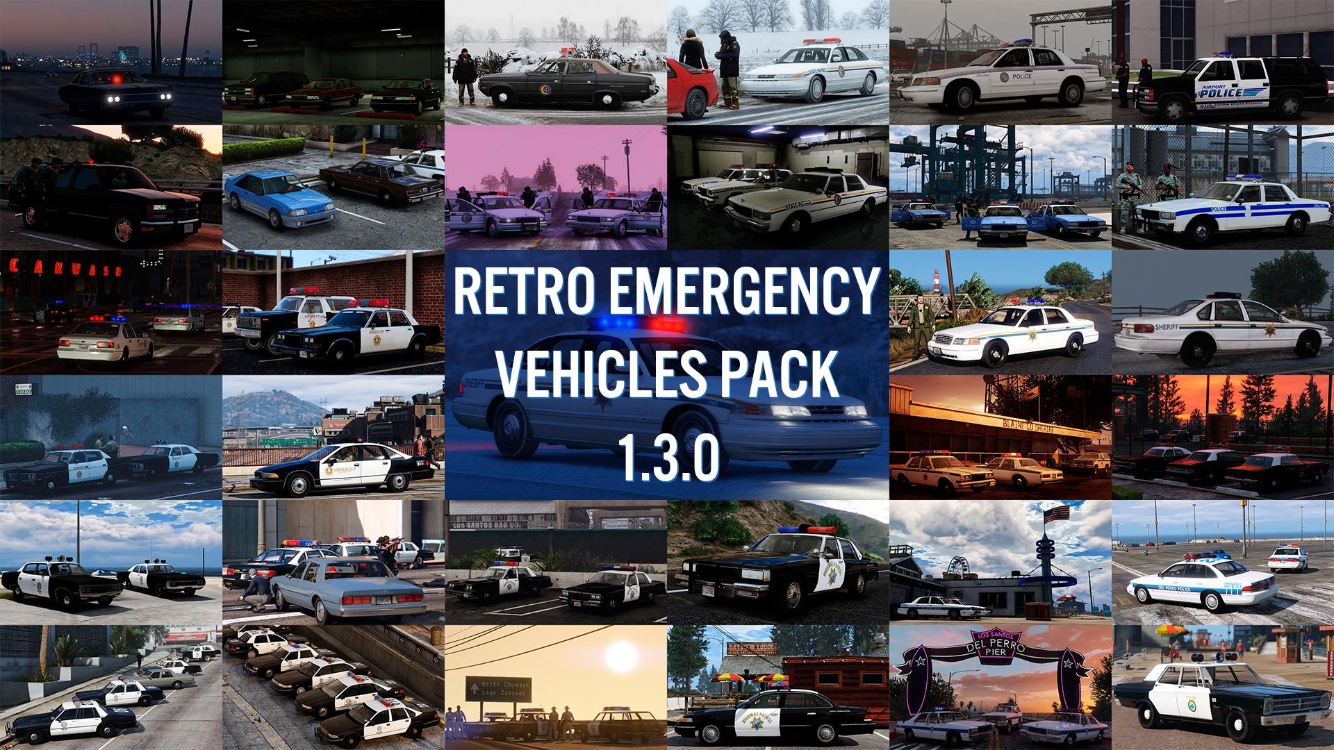 Retro Emergency Vehicles Pack - GTA5-Mods com