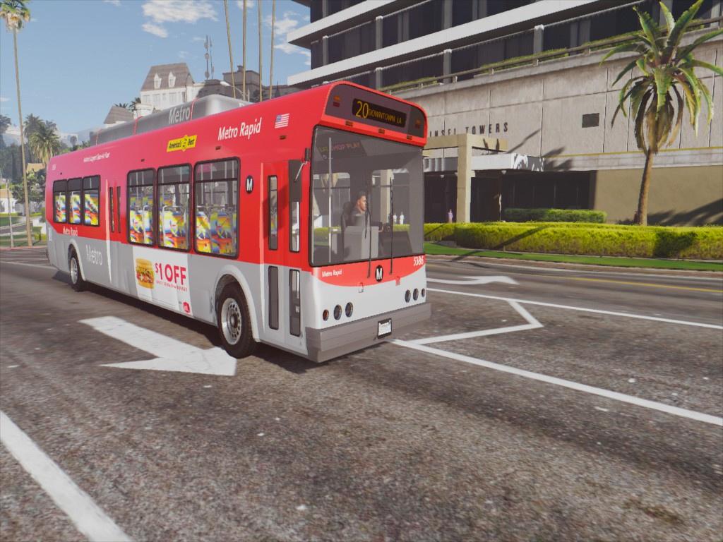 Los Angeles County Bus Pack Gta5 Mods Com
