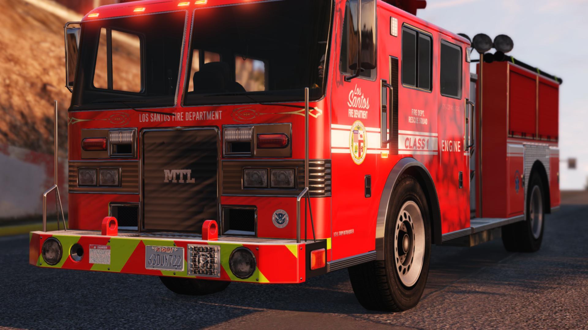 Los Santos Fire Department Engine + Firefighters - GTA5-Mods com