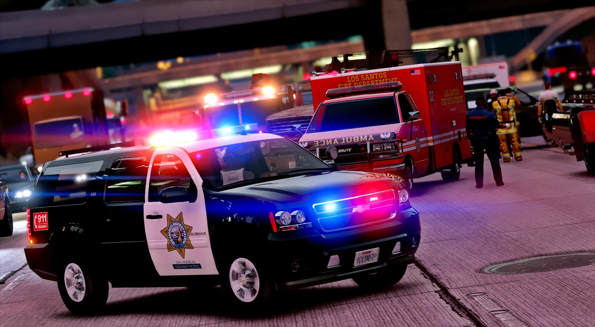 Chevrolet Suburban Lax Airport Police For Gta San Andreas: Los Santos Police Suburban [ELS]