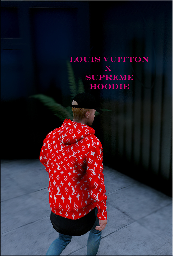louis vuitton x supreme pullover hoodie gta5. Black Bedroom Furniture Sets. Home Design Ideas