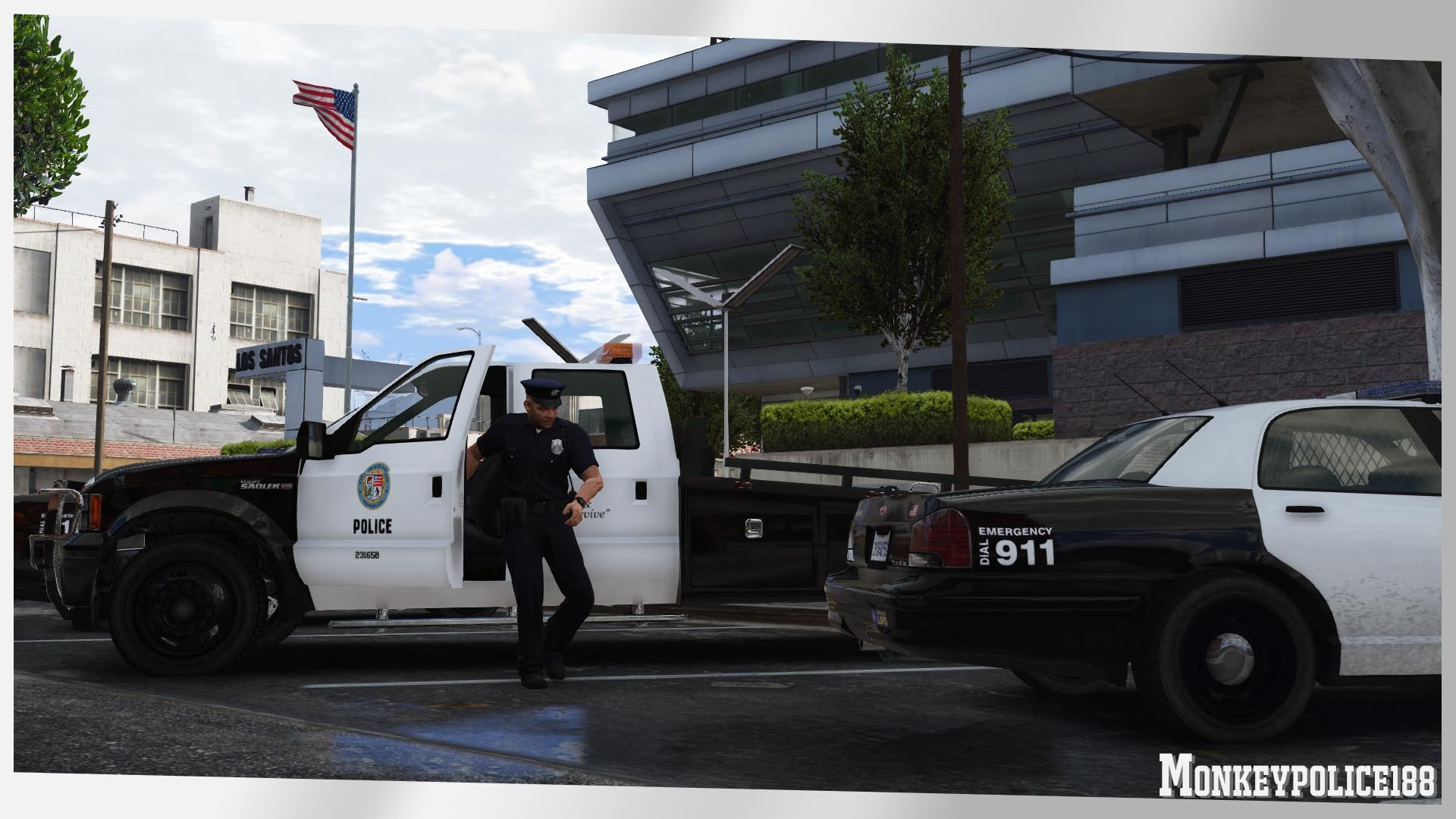 LSPD Sadler Police Ramp Truck [Add-On | Liveries | Template