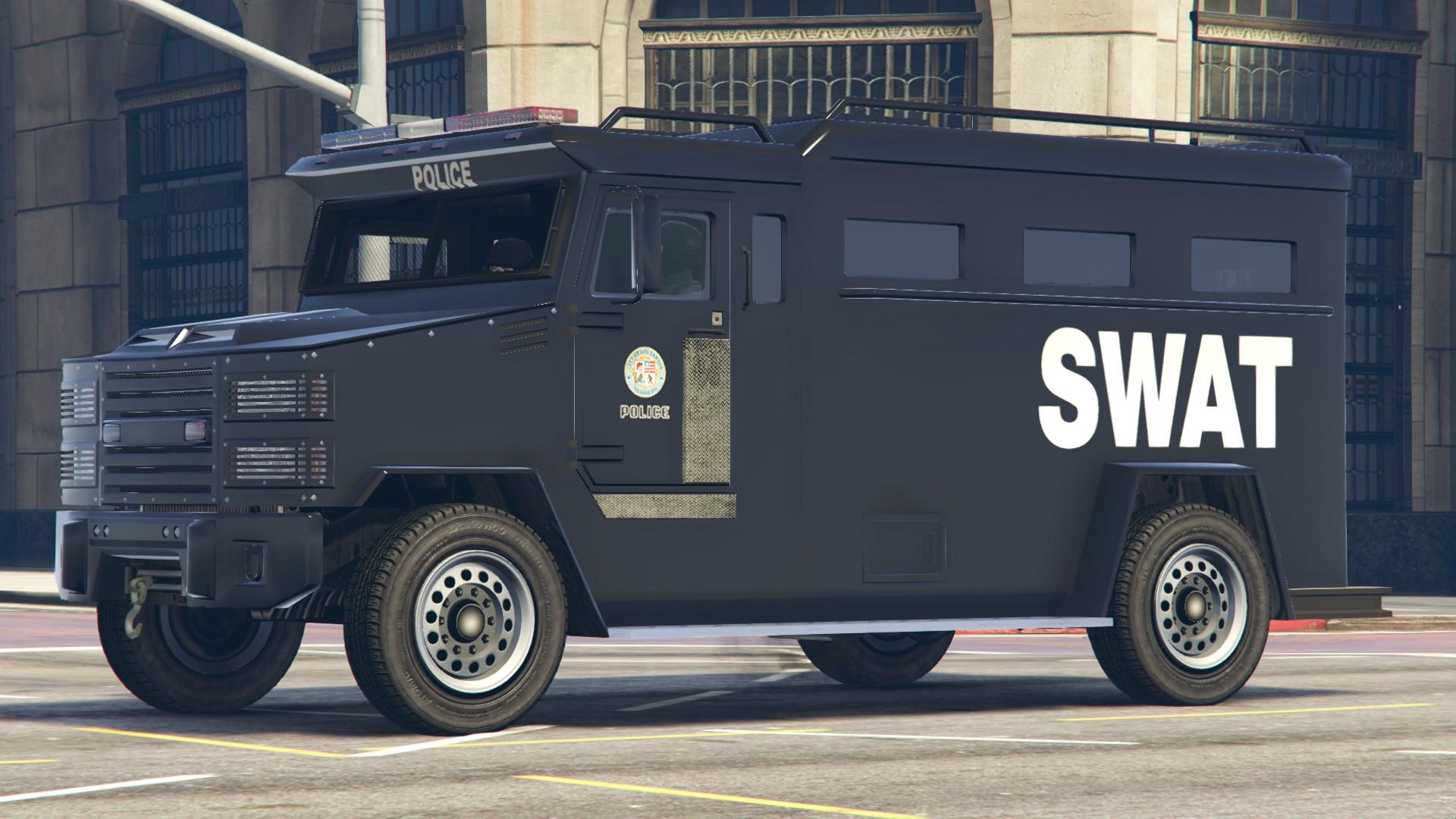 LSPD SWAT Truck Livery Brute Police Riot Truck (4K) - GTA5