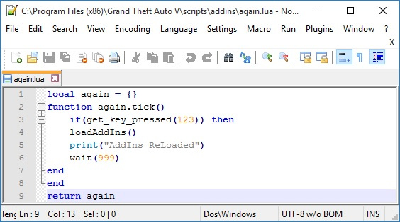 LUA Scripts Reloader - GTA5-Mods com