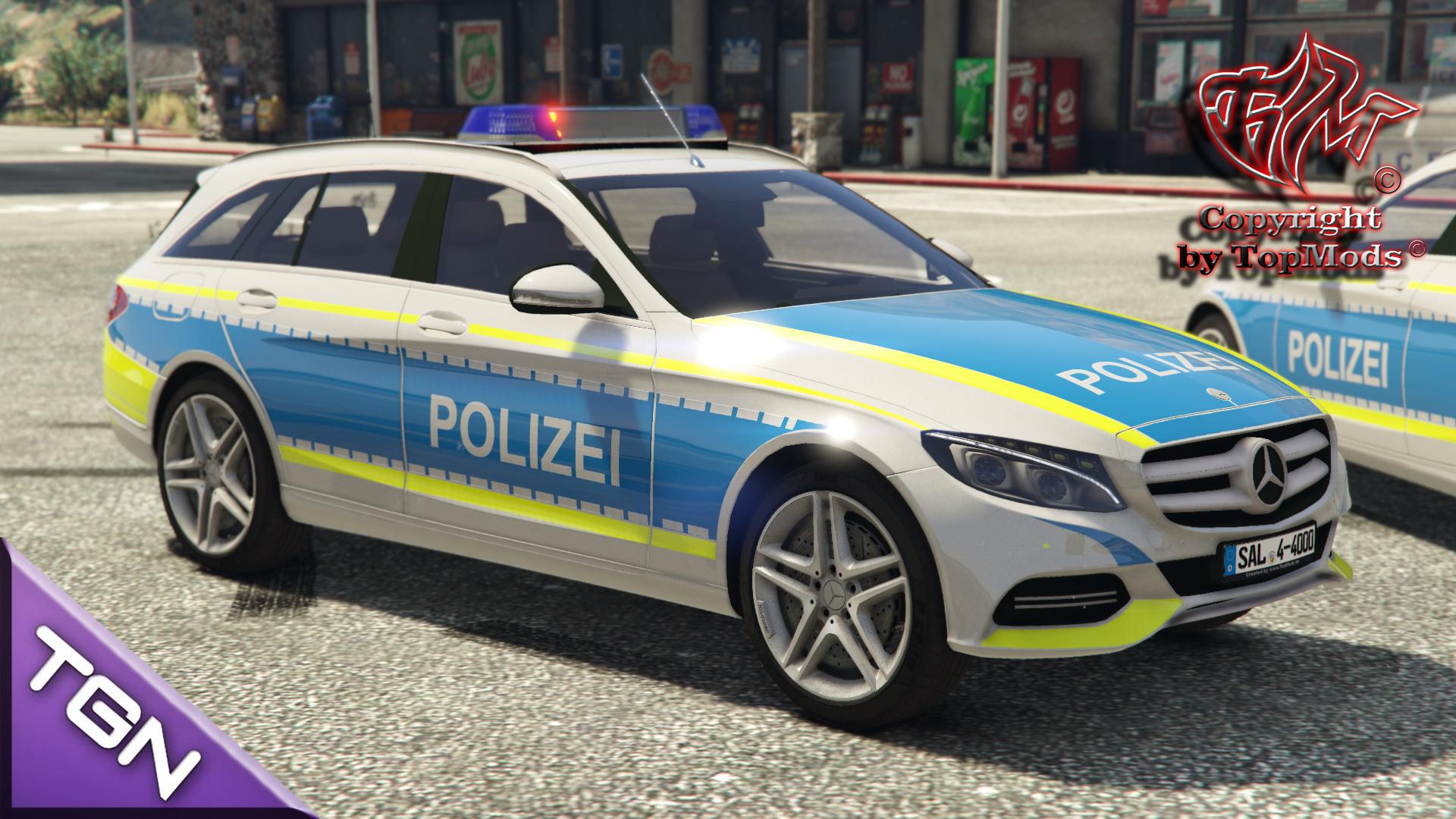 Mercedes Benz C250 Polizei Saarland GTA5 Mods