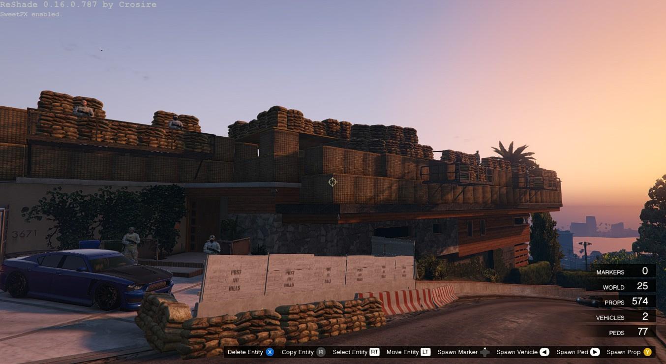 Military Base At Franklin S House Gta5 Mods Com