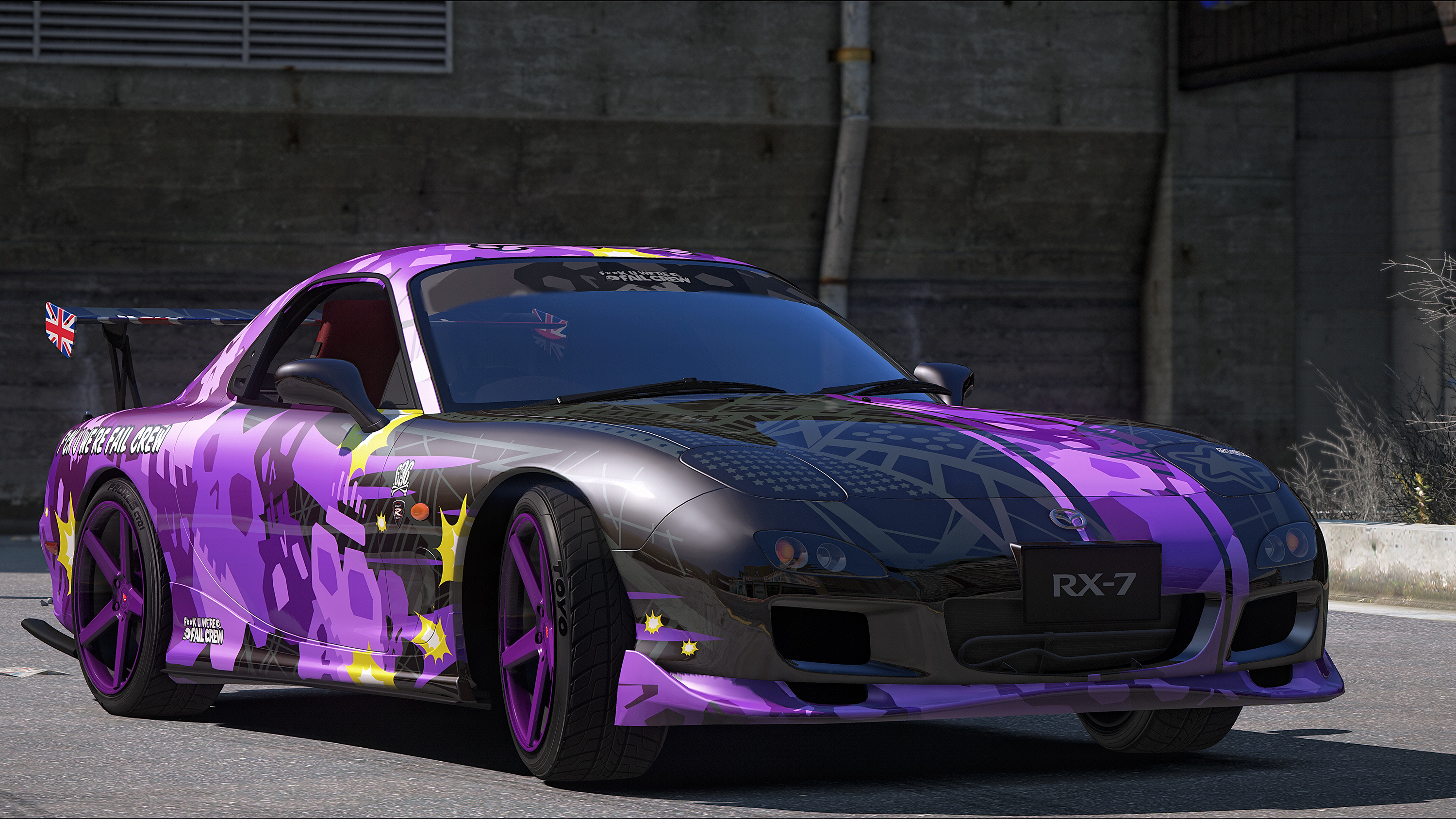 mazda rx 7 spirit r type fail crew vinyl gta5. Black Bedroom Furniture Sets. Home Design Ideas