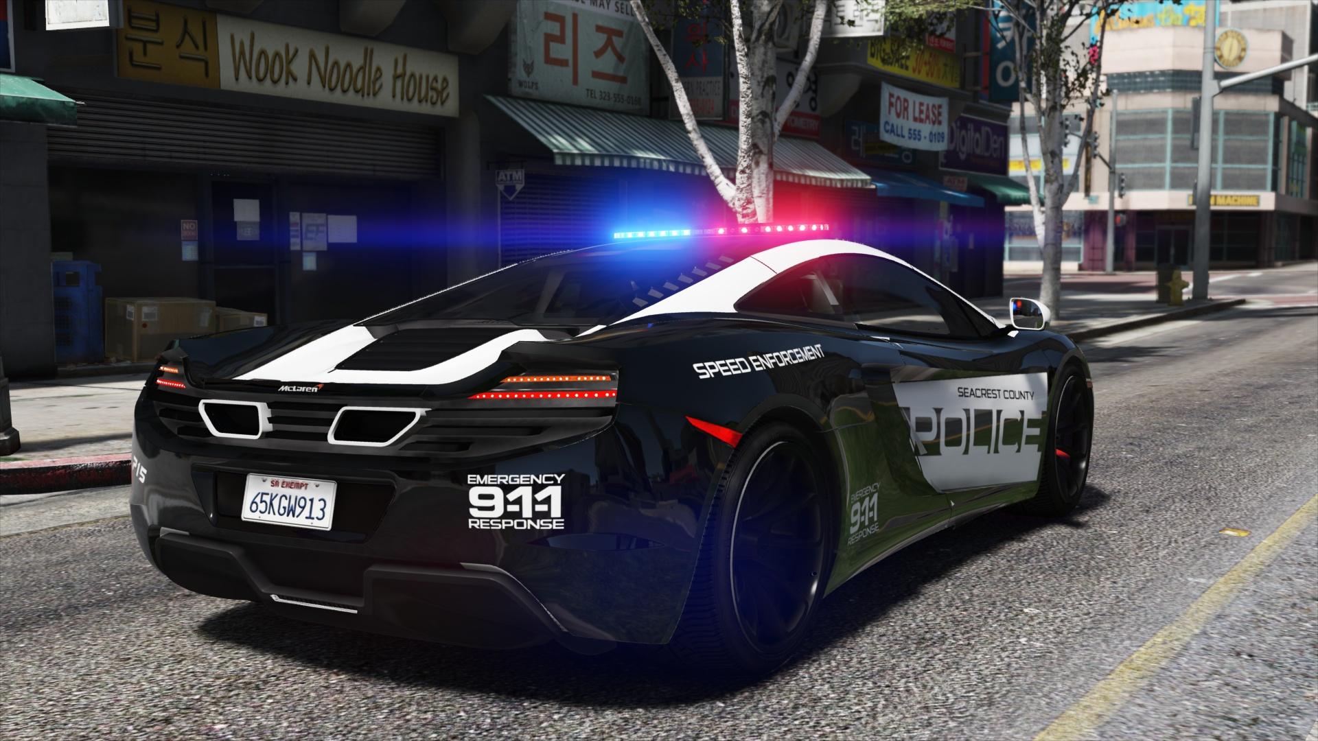 McLaren MP4 12C | Hot Pursuit Police [Add-On / Replace | Template