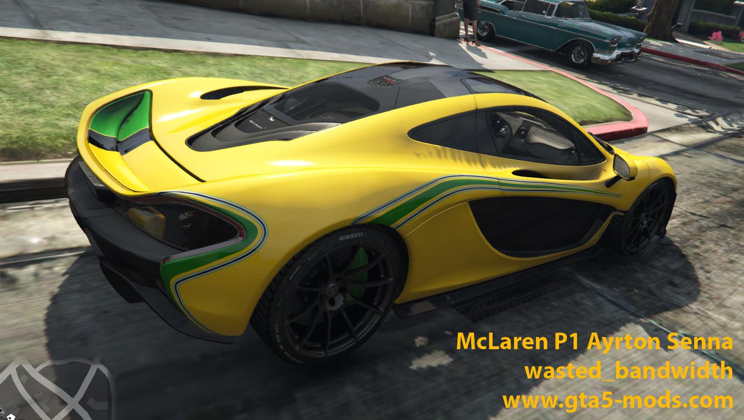 Mclaren P1 Ayrton Senna Skin Gta5 Mods Com