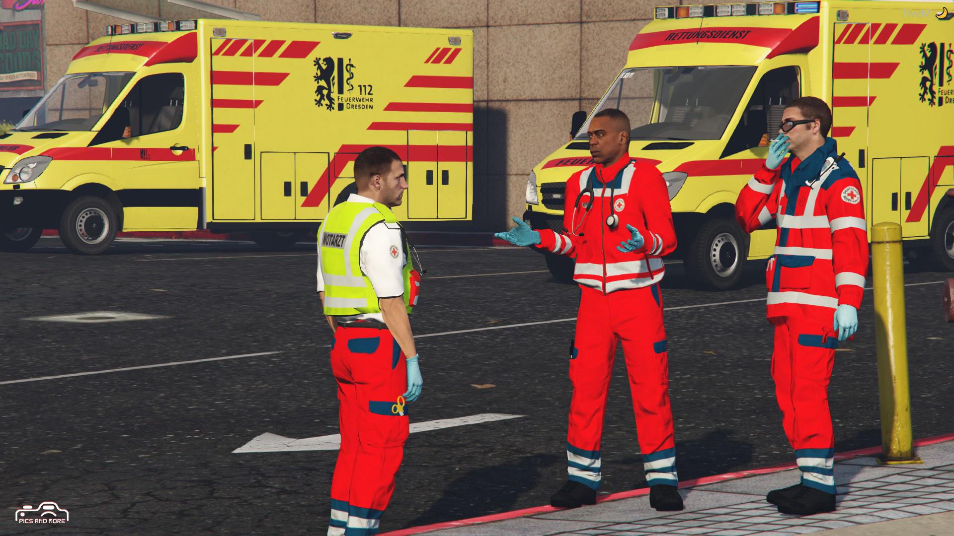 medic , notarzt , rettungsdienst , sanitäter klamotten (mod