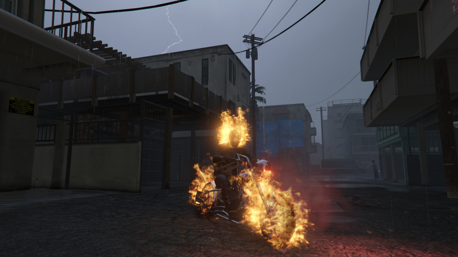 Grand Theft V Ghost Rider – Fondos de Pantalla