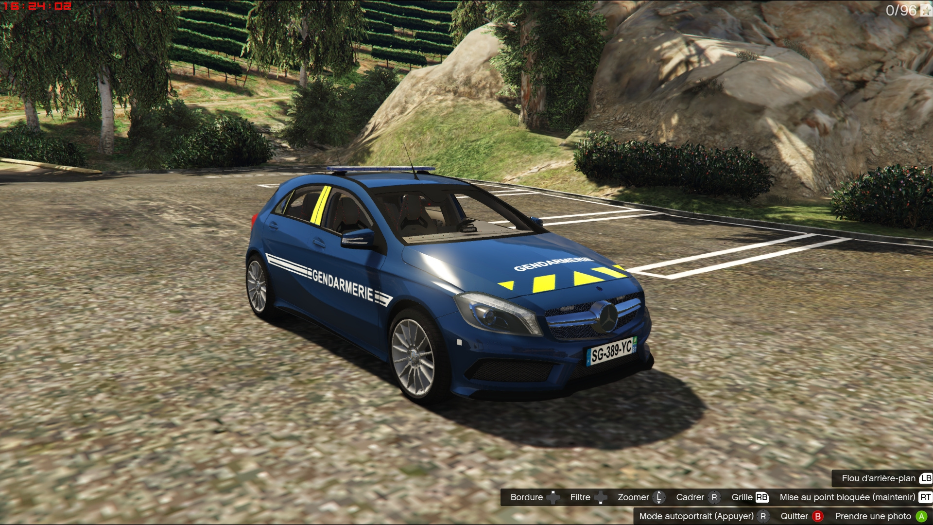 mercedes a45 amg french gendarmerie els gta5. Black Bedroom Furniture Sets. Home Design Ideas