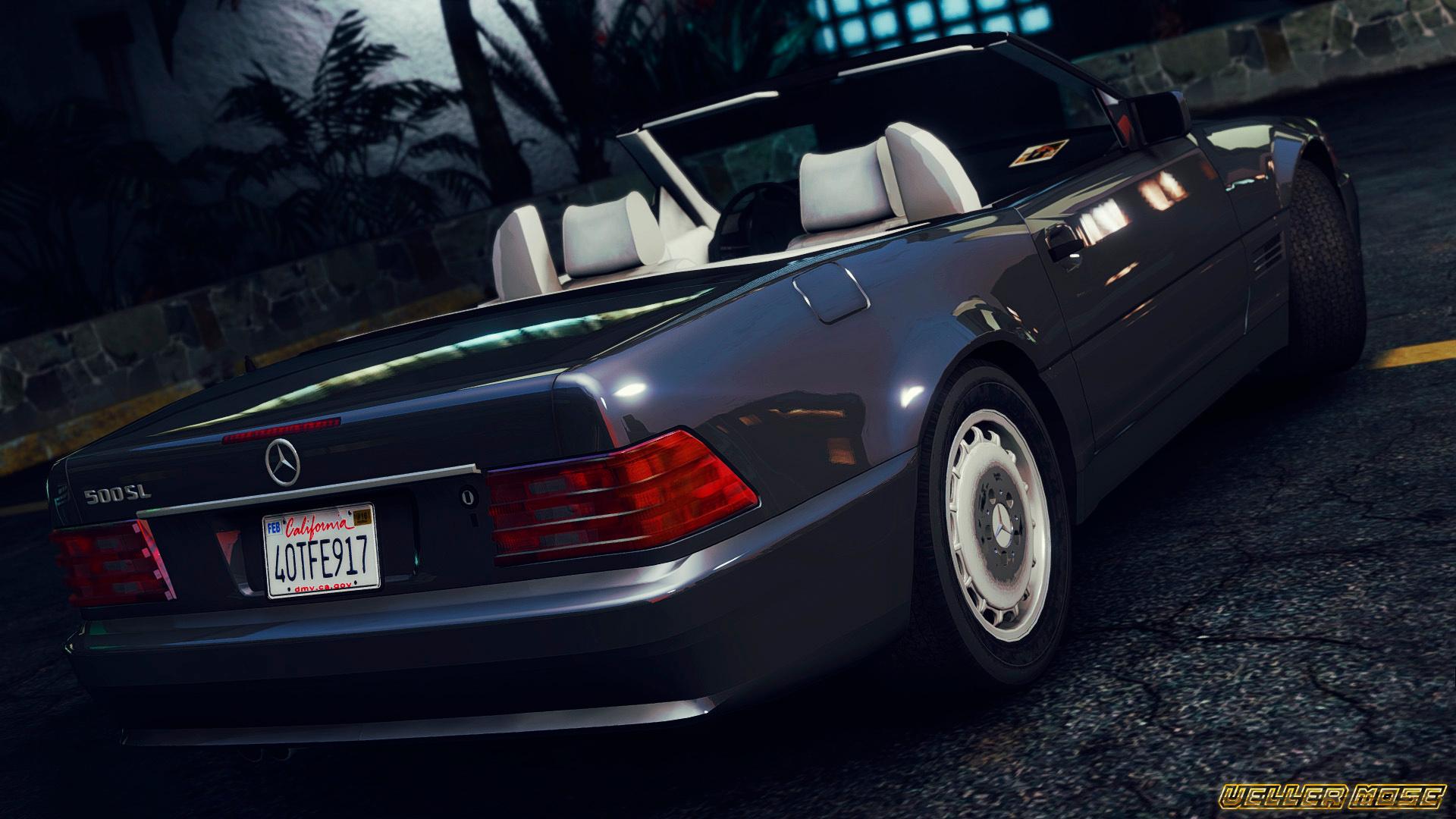 1989 mercedes benz 500 sl gta5 for Mercedes benz sl 500