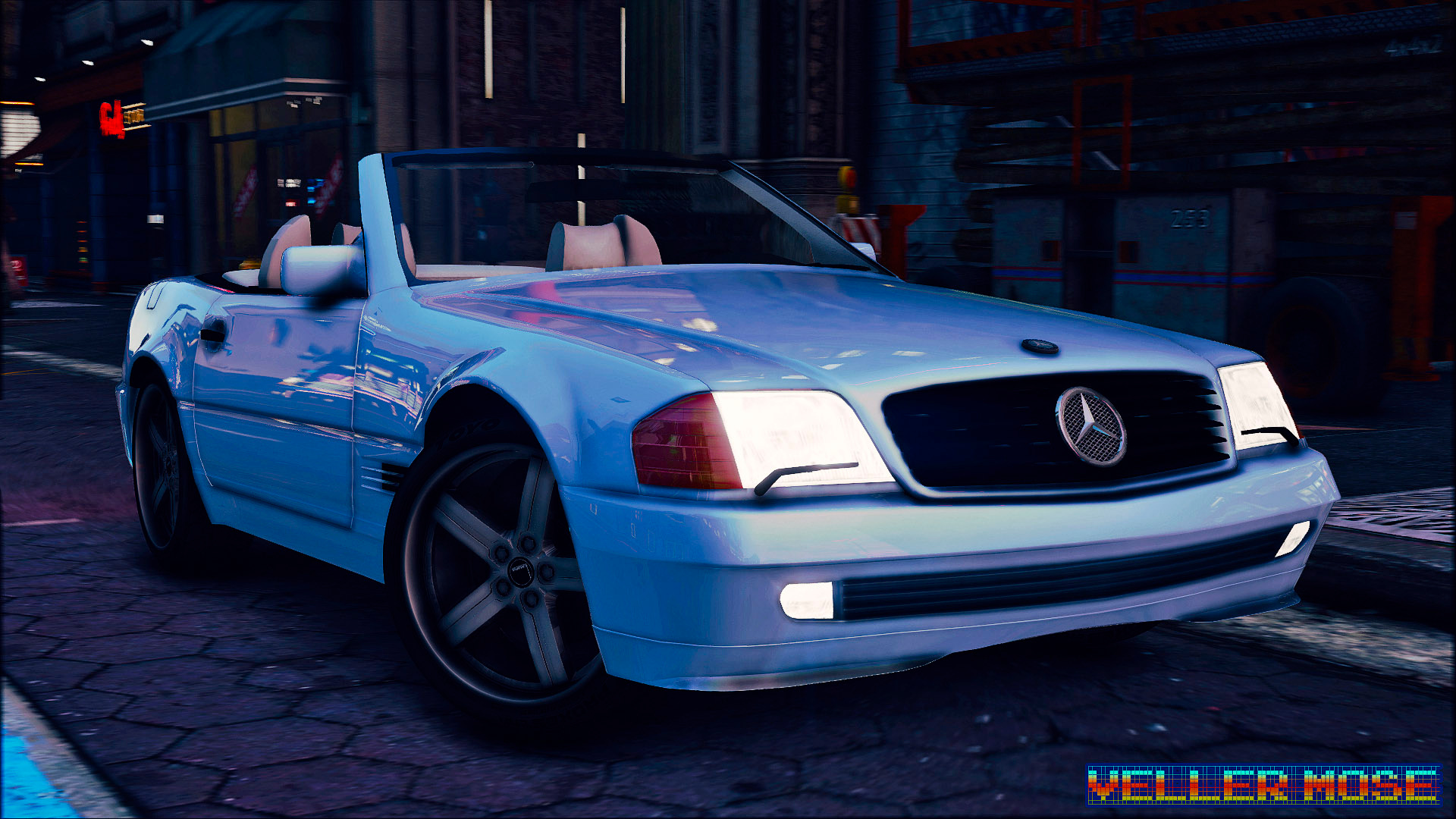 1989 mercedes benz 500 sl gta5. Black Bedroom Furniture Sets. Home Design Ideas