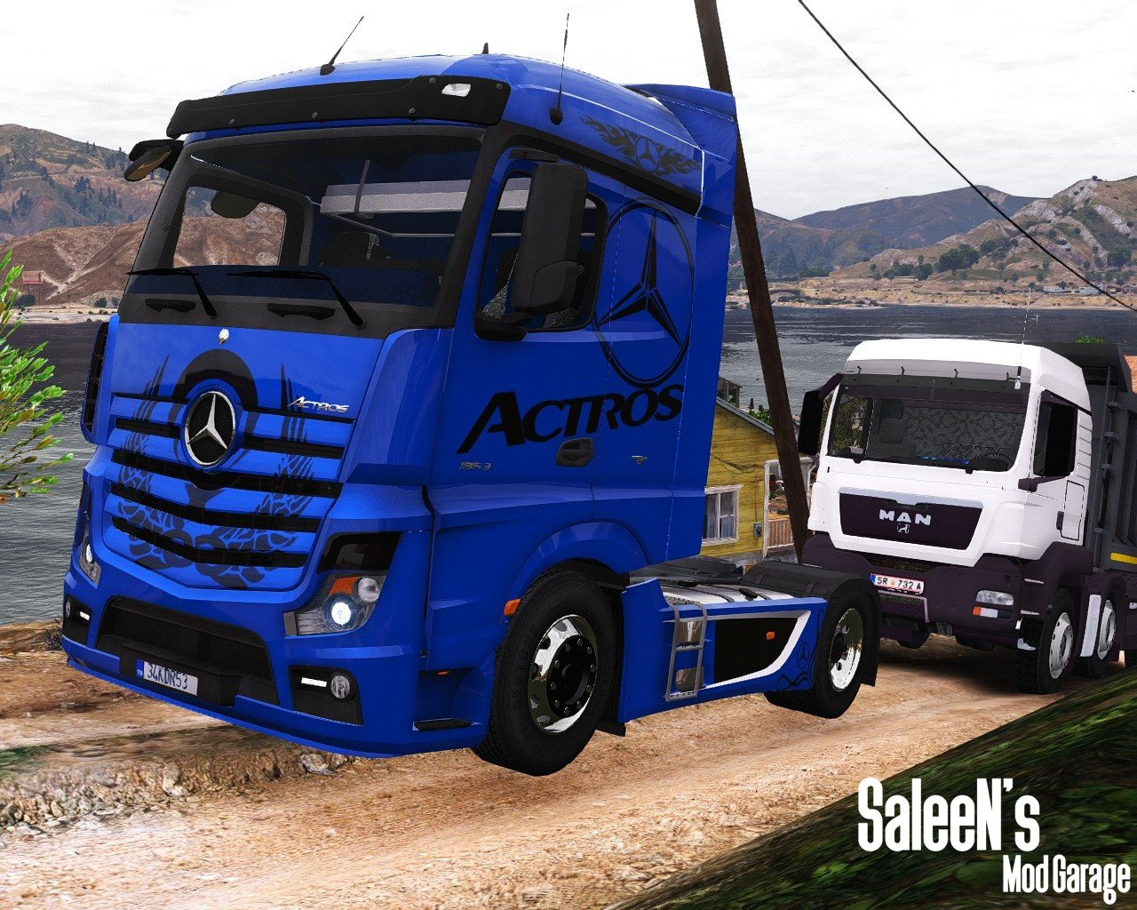 mercedes benz actros mp4 4x2 add on replace gta5. Black Bedroom Furniture Sets. Home Design Ideas