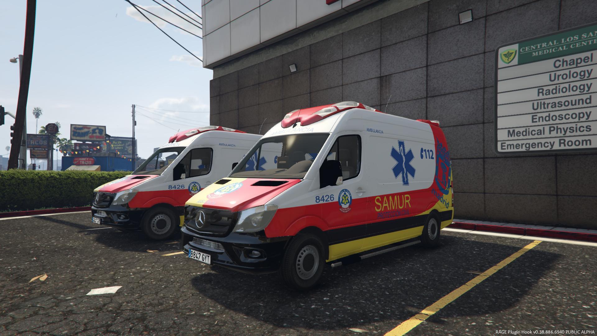 Mercedes-Benz - Ambulancia - SAMUR (Spanish) - GTA5-Mods com