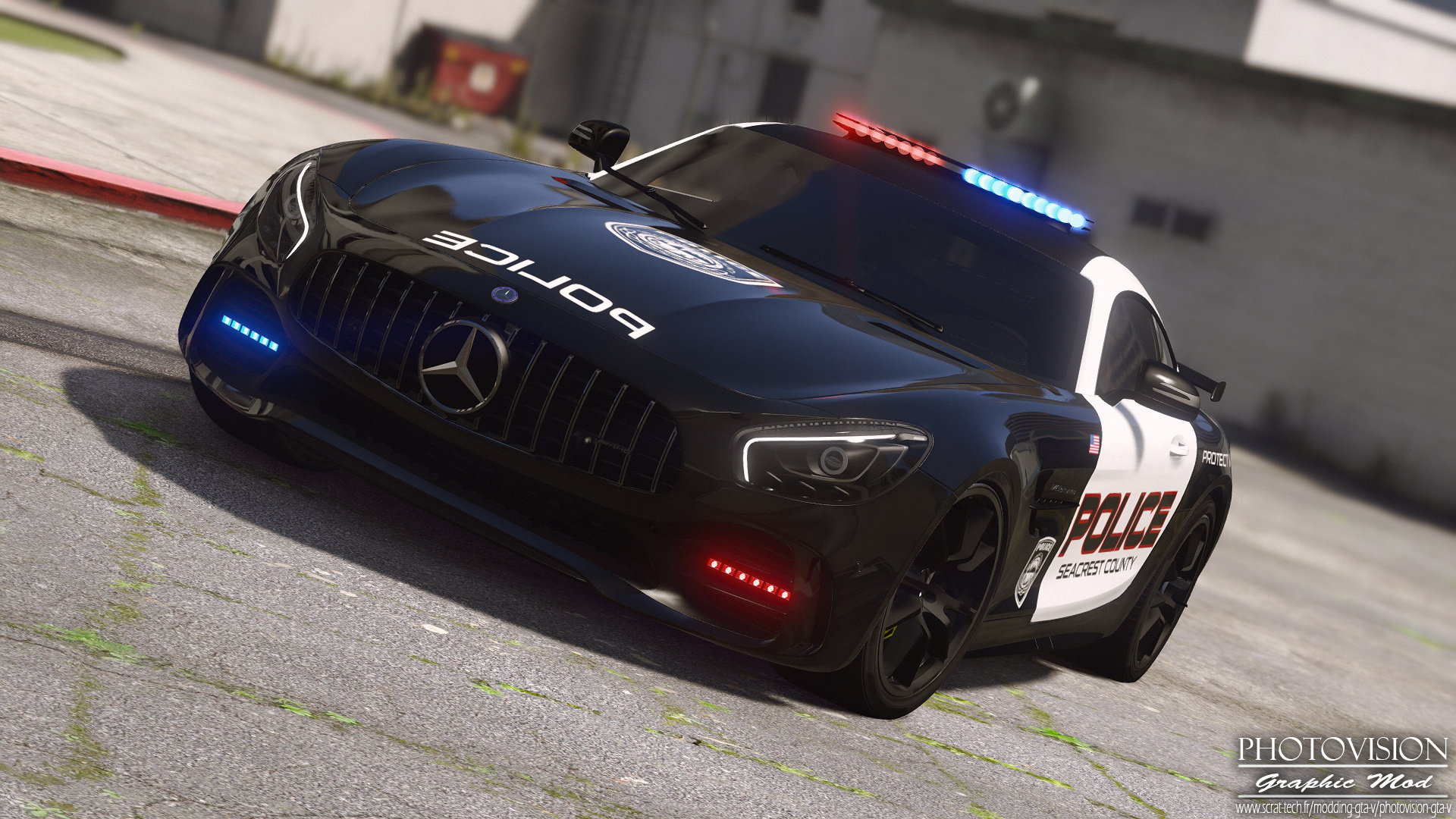 Mercedes Benz Amg Gt R 2017 Hot Pursuit Police Add On