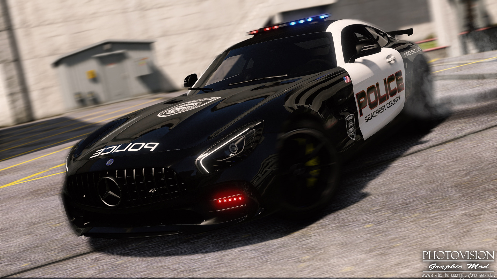 mercedes benz amg gt r 2017 hot pursuit police add on replace template gta5. Black Bedroom Furniture Sets. Home Design Ideas