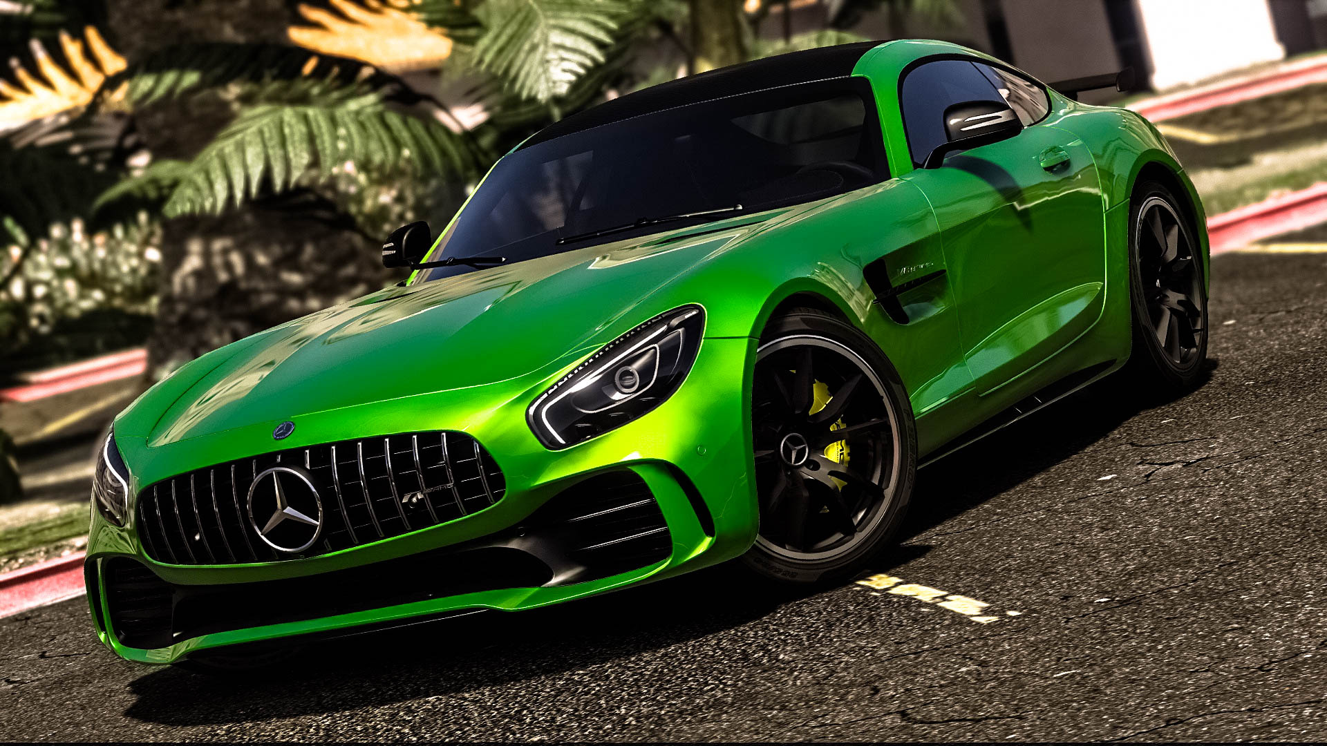 mercedes benz amg gt r 2017 add on replace template. Black Bedroom Furniture Sets. Home Design Ideas