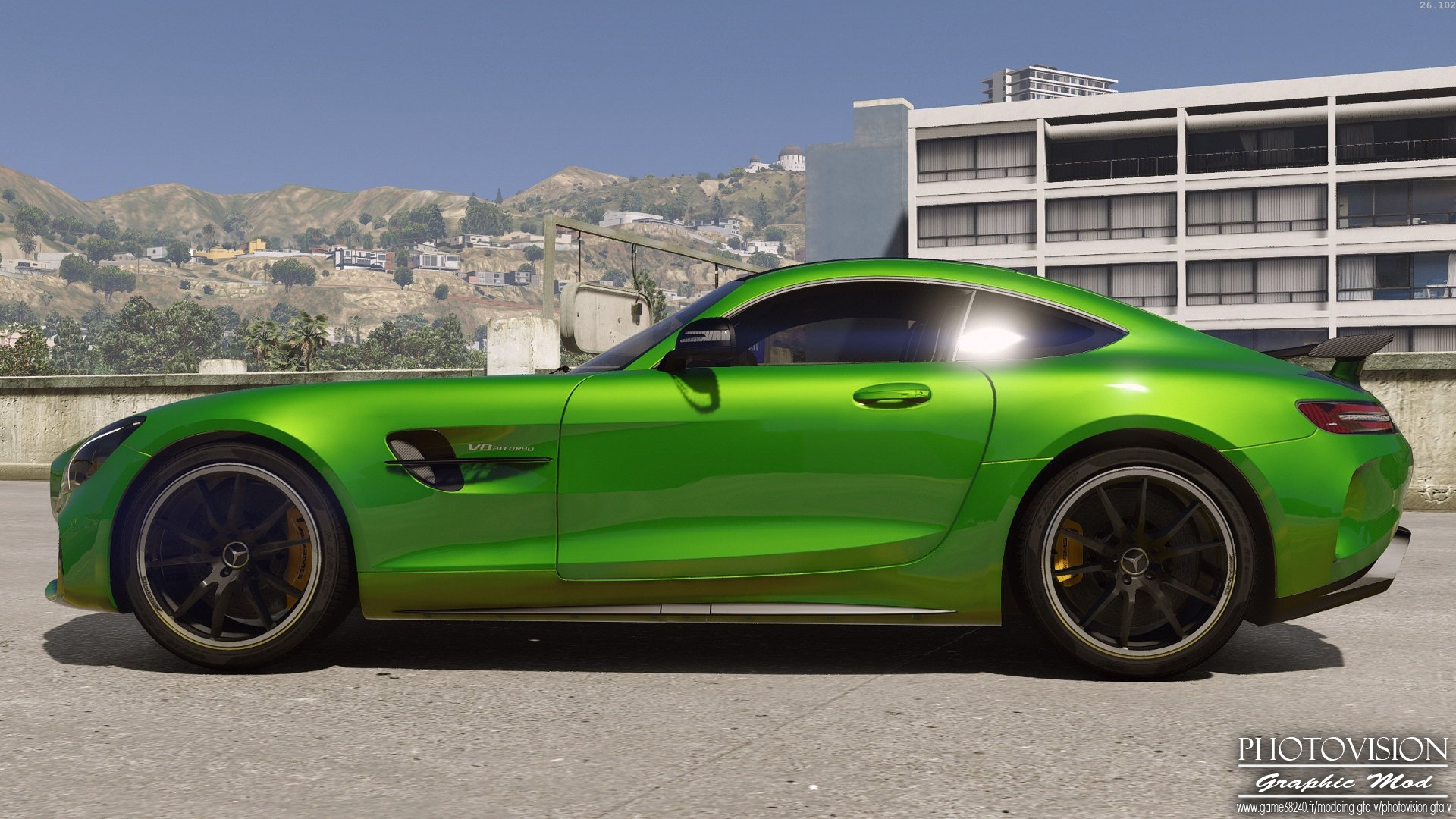 Mercedes Benz Amg Gt R 2017 Add On Replace Template