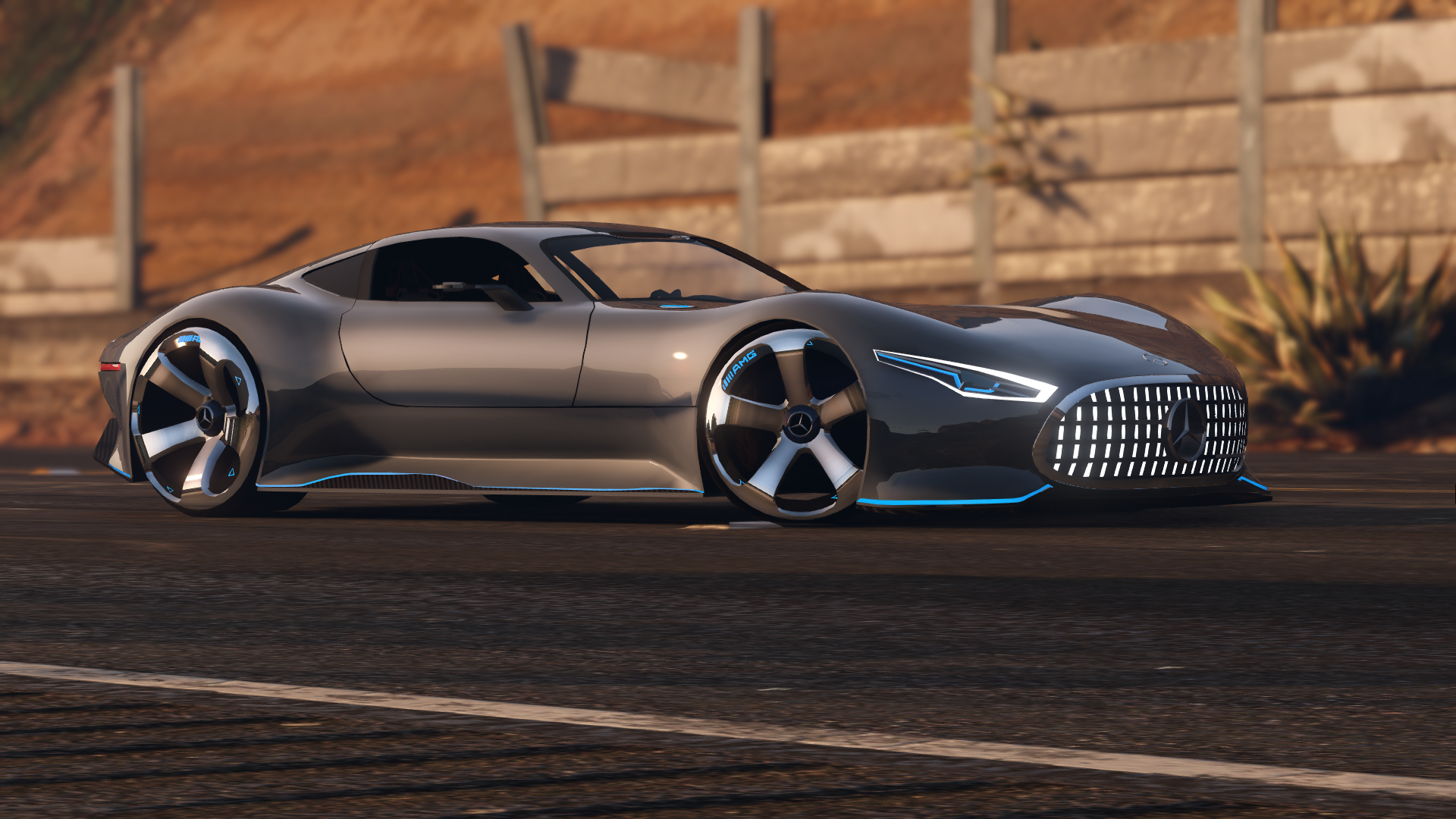 Mercedes benz amg vision gt add on gta5 for Mercedes benz amg vision
