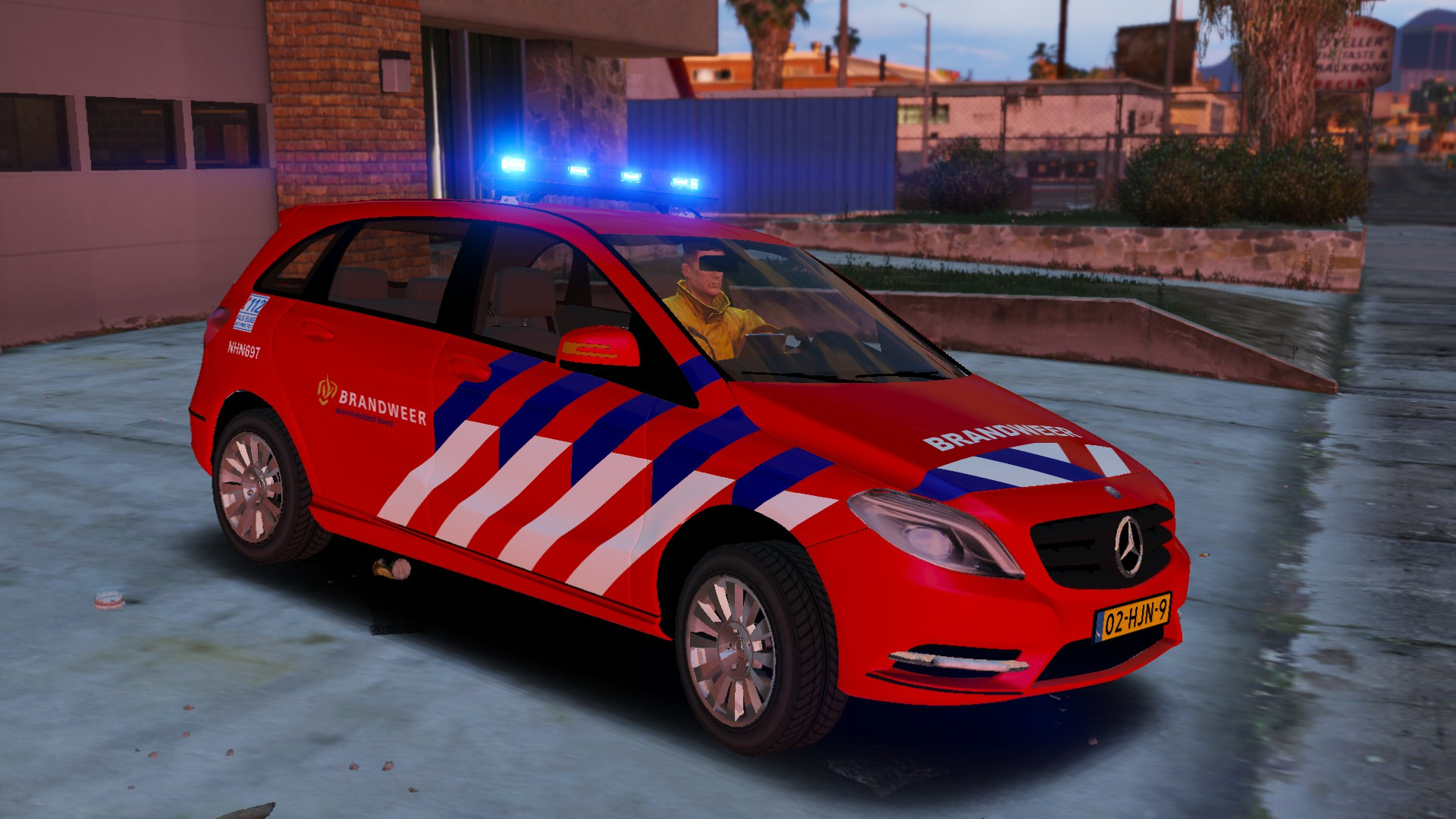 mercedes benz b klasse dienstauto brandweer nhn gta5. Black Bedroom Furniture Sets. Home Design Ideas
