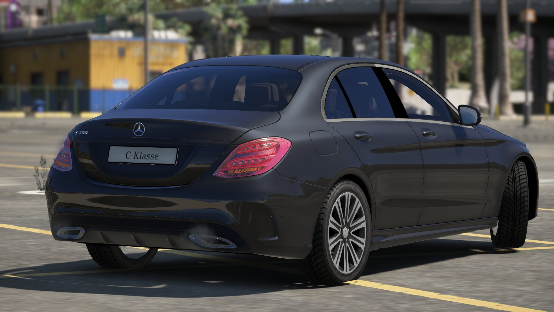 Mercedes benz c class w205 2014 unlocked gta5 for Mercedes benz gta