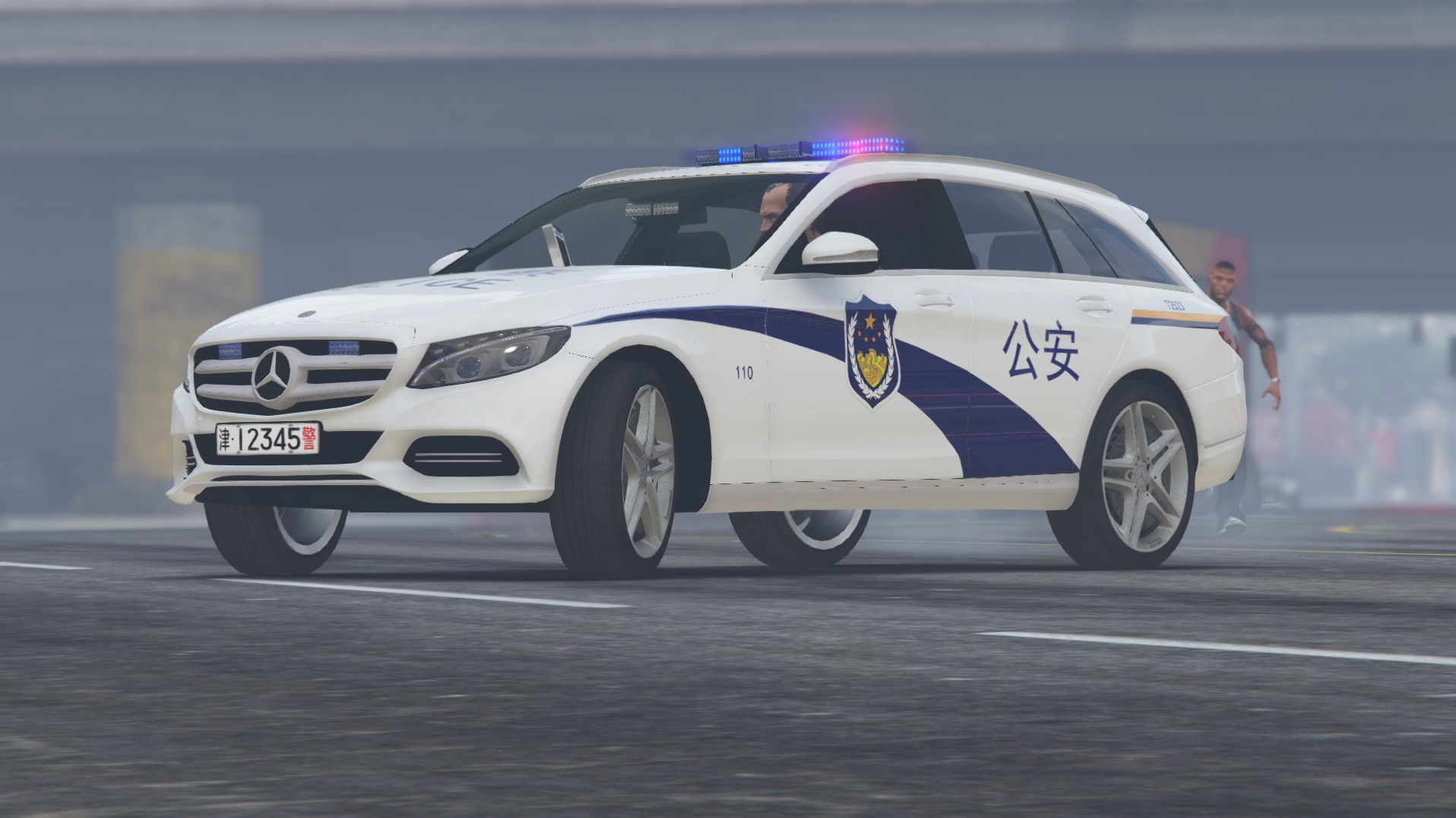 Mercedes benz c250 chinese police gta5 for Mercedes benz c 250