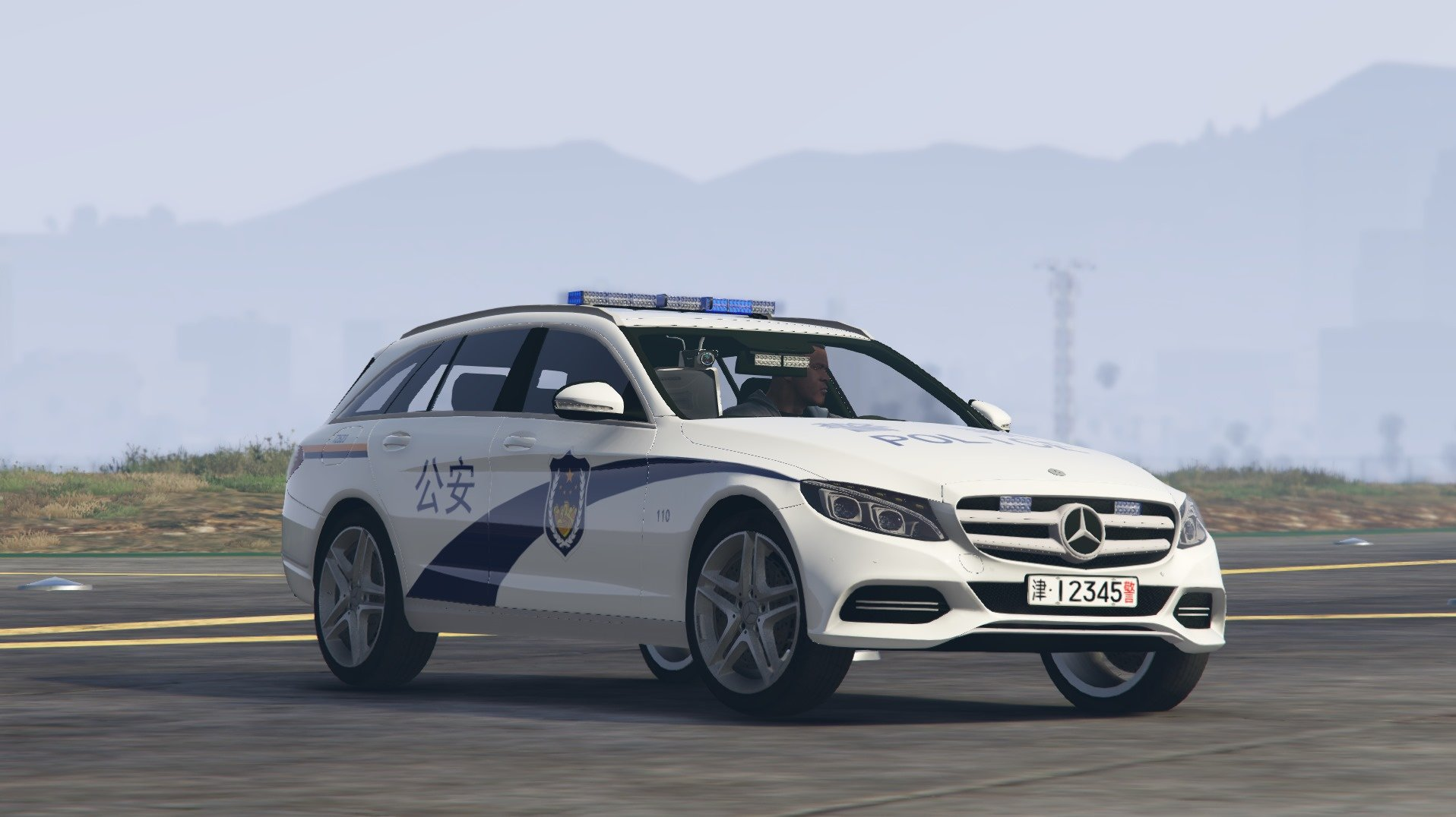 mercedes benz c250 chinese police gta5. Black Bedroom Furniture Sets. Home Design Ideas