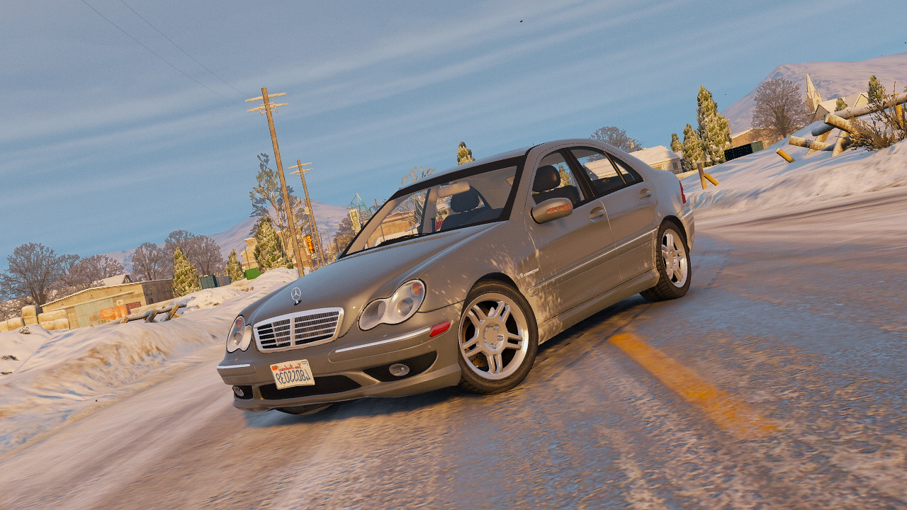 Mercedes Benz C32 Amg 2004 Add On Replace Hq Gta5