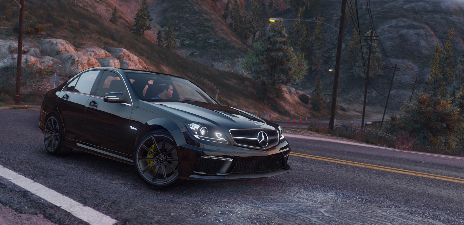 Mercedes benz c63 amg gta5 for Mercedes benz c 63