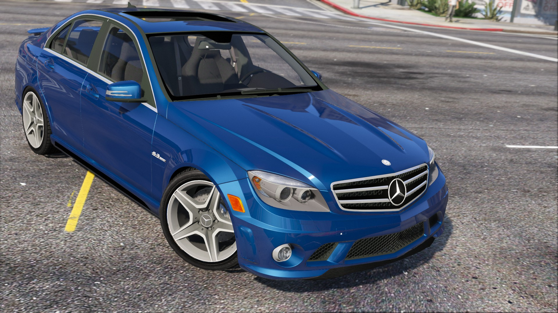 Mercedes Benz C63 AMG GTA5 Mods