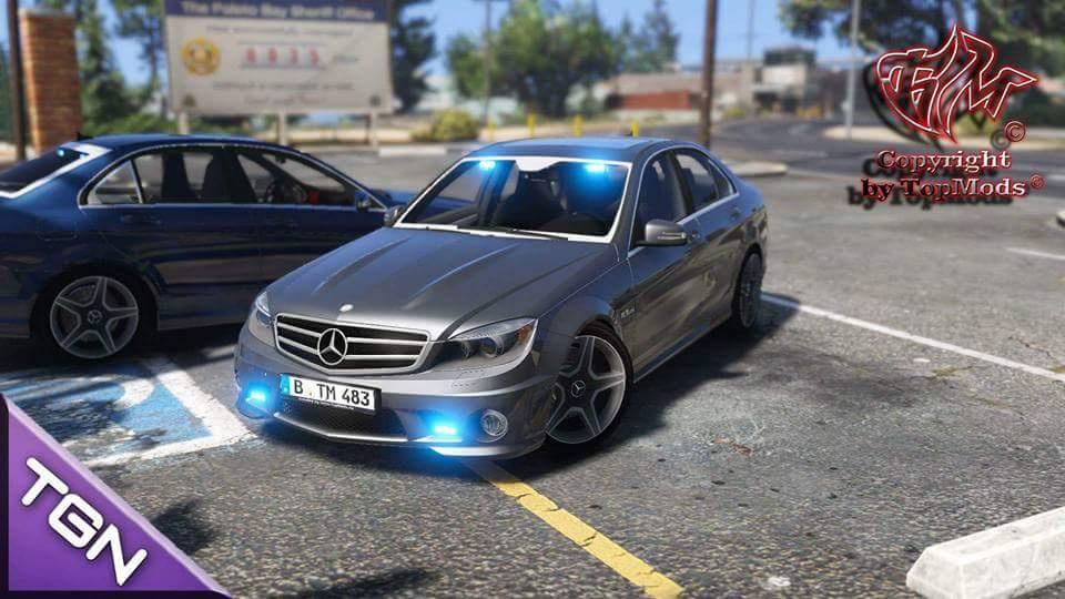Mercedes Benz C63 Kriminalpolizei Gta5 Mods Com