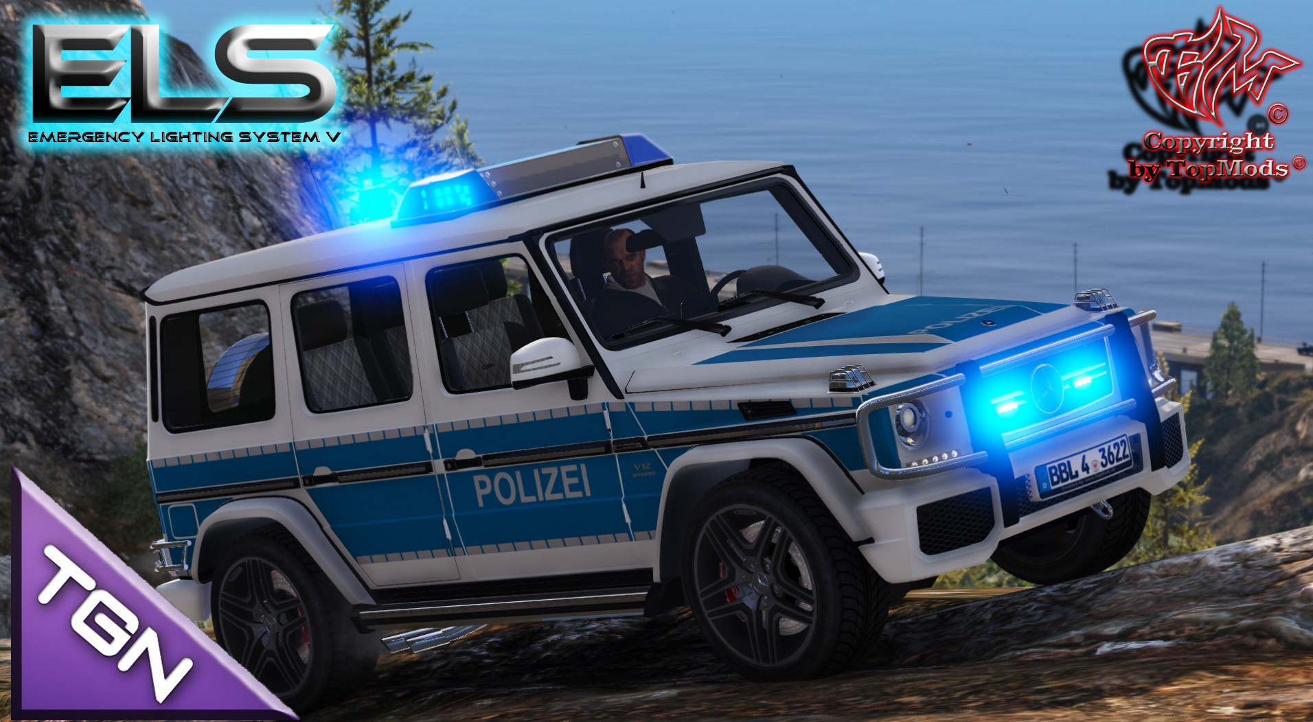 Mercedes Benz G Klasse Polizei Brandenburg [ELS] GTA5 Mods