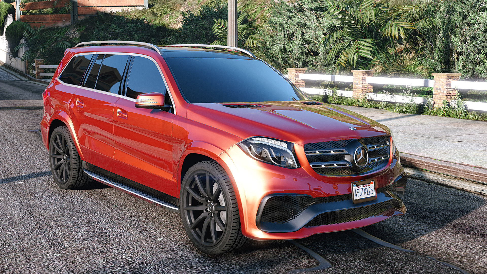Mercedes Benz Gls 63 Amg 2015 Add On Replace Animated