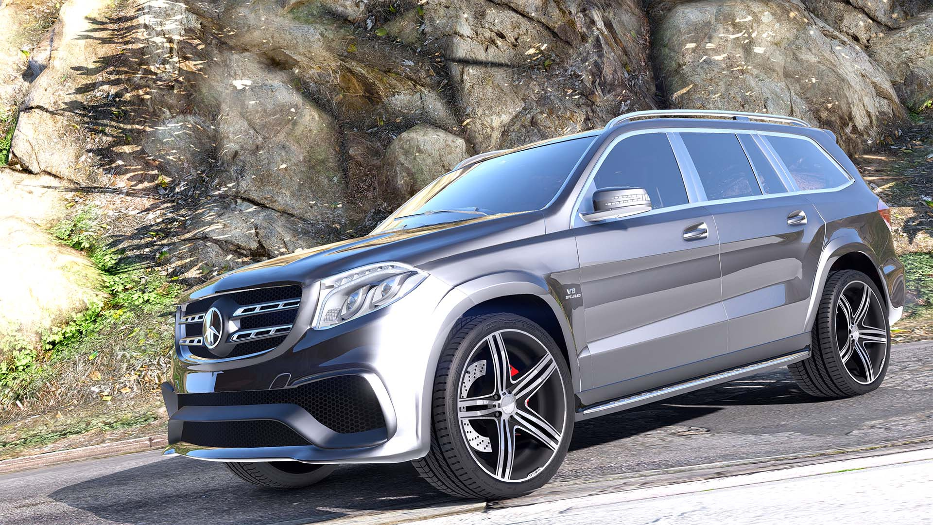 mercedes benz gls 63 amg 2015 add on replace animated gta5. Black Bedroom Furniture Sets. Home Design Ideas