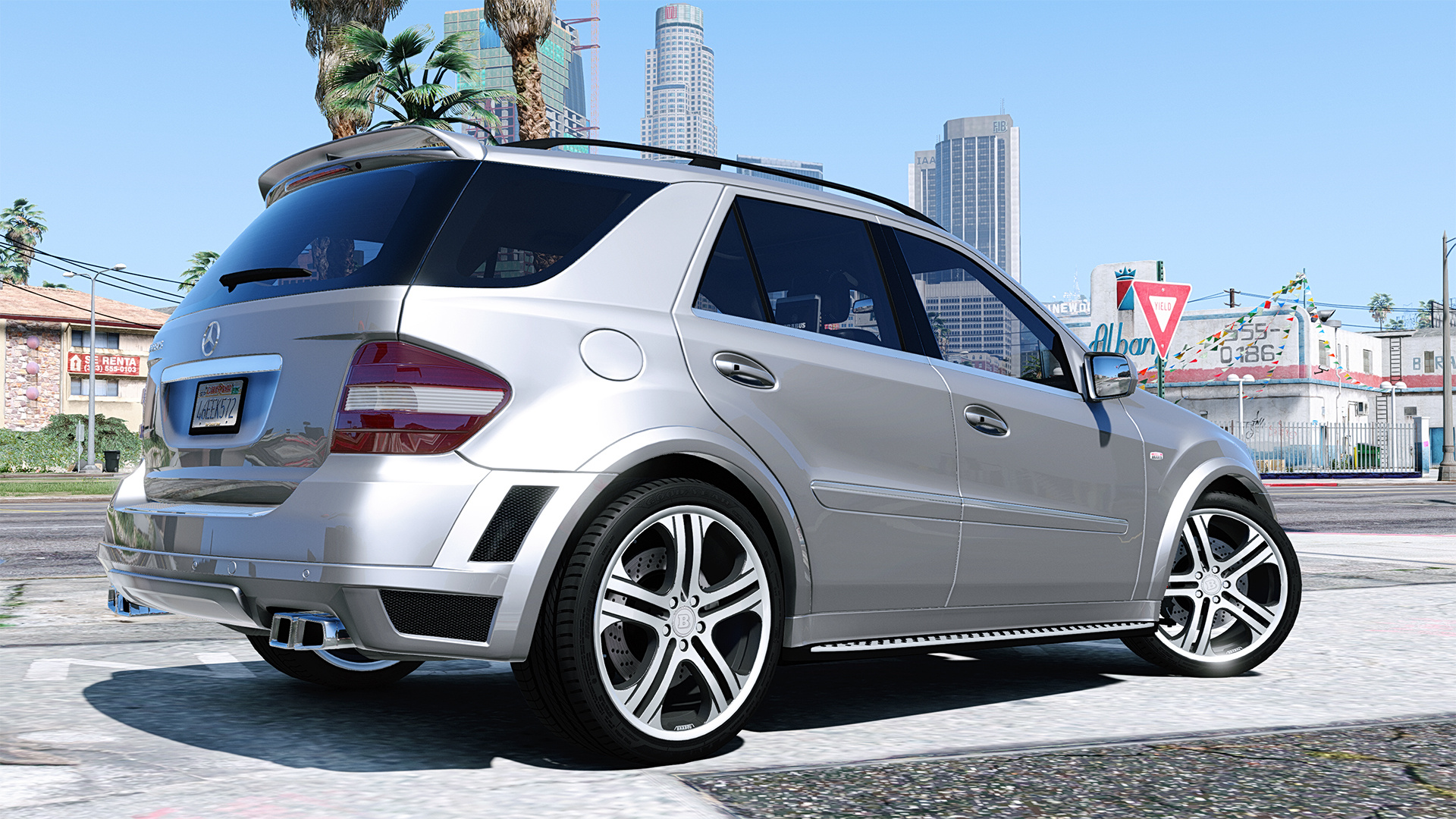 Mercedes benz ml brabus 2009 monoblock q add on for Ml mercedes benz