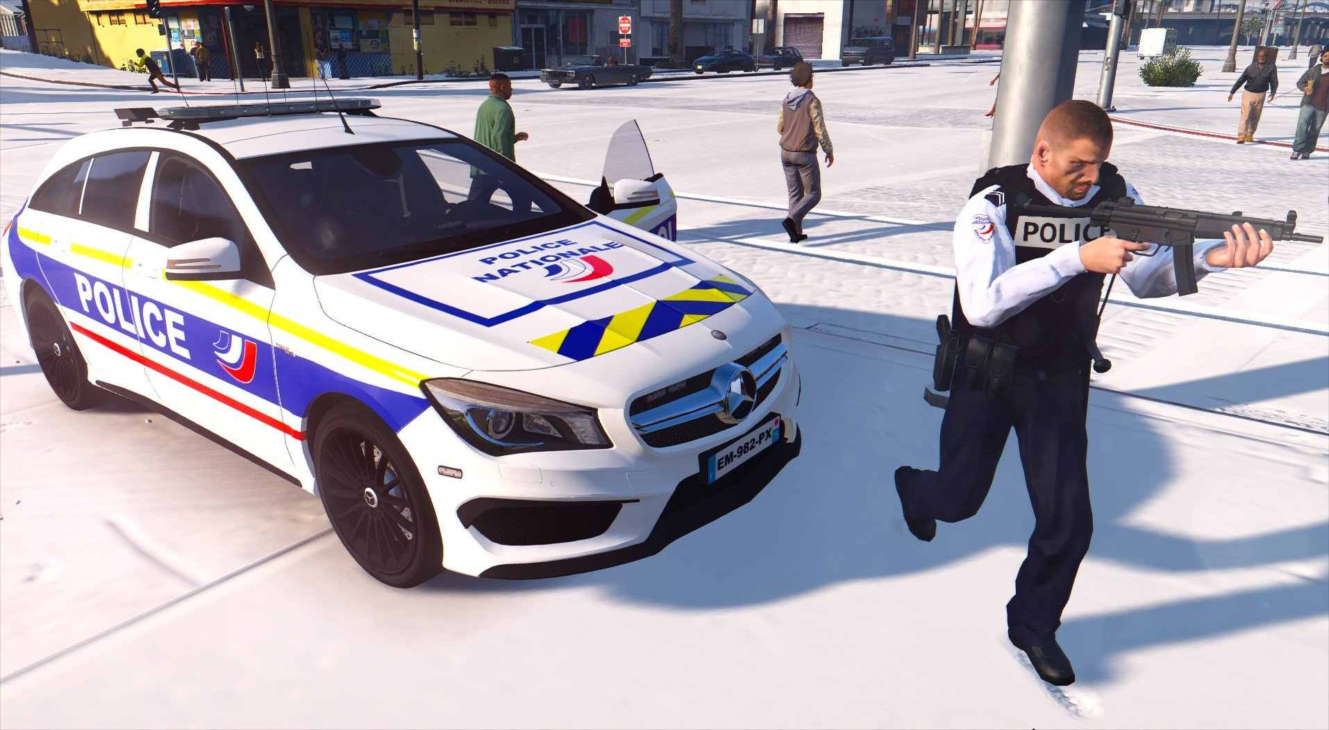 Mercedes Benz Police Nationale Gta5 Mods Com